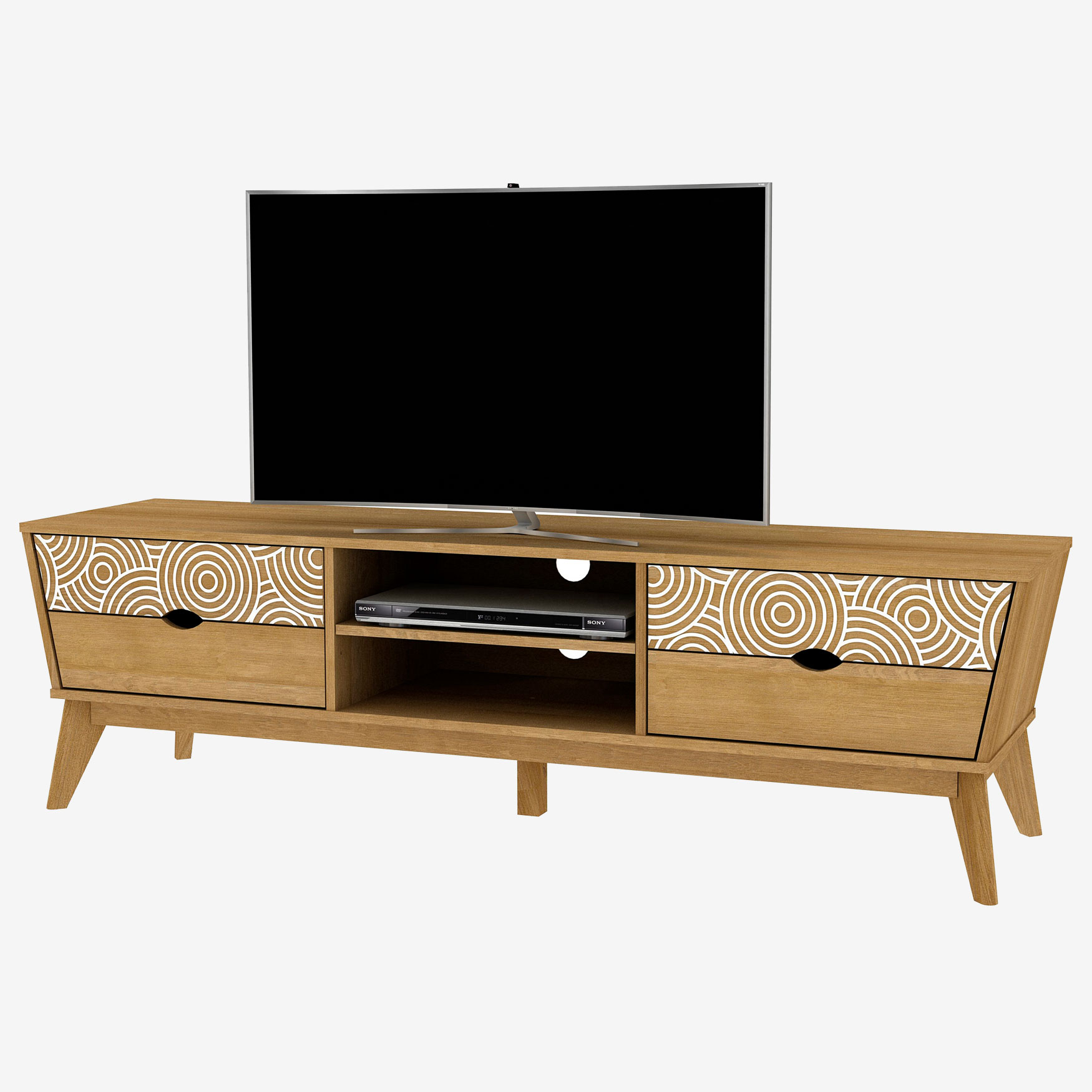 Auckland TV Stand, OAK
