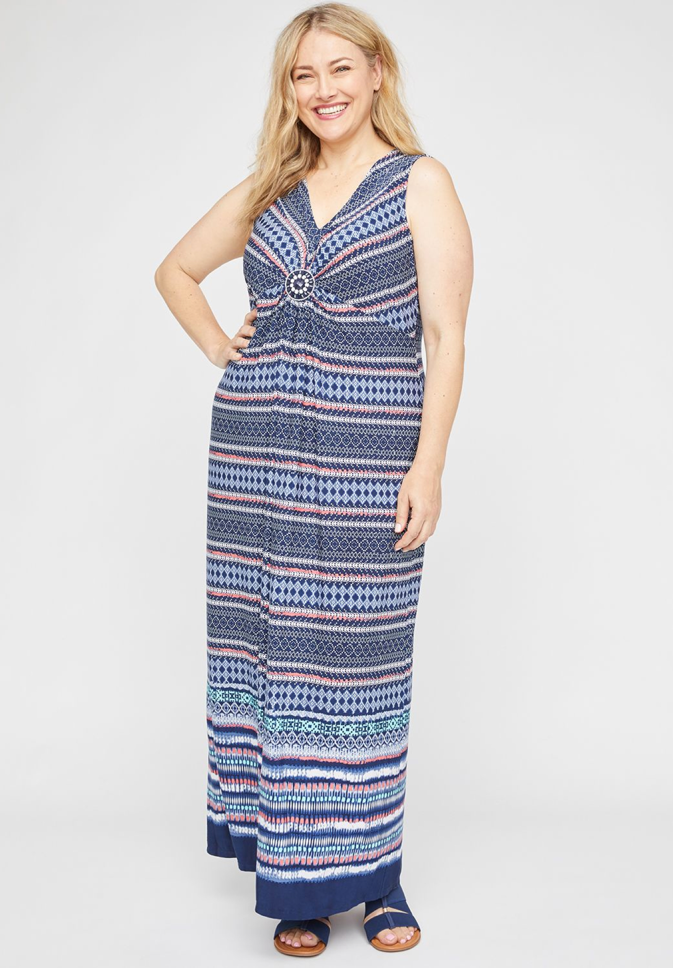 Crescent Park Medallion Maxi Dress,