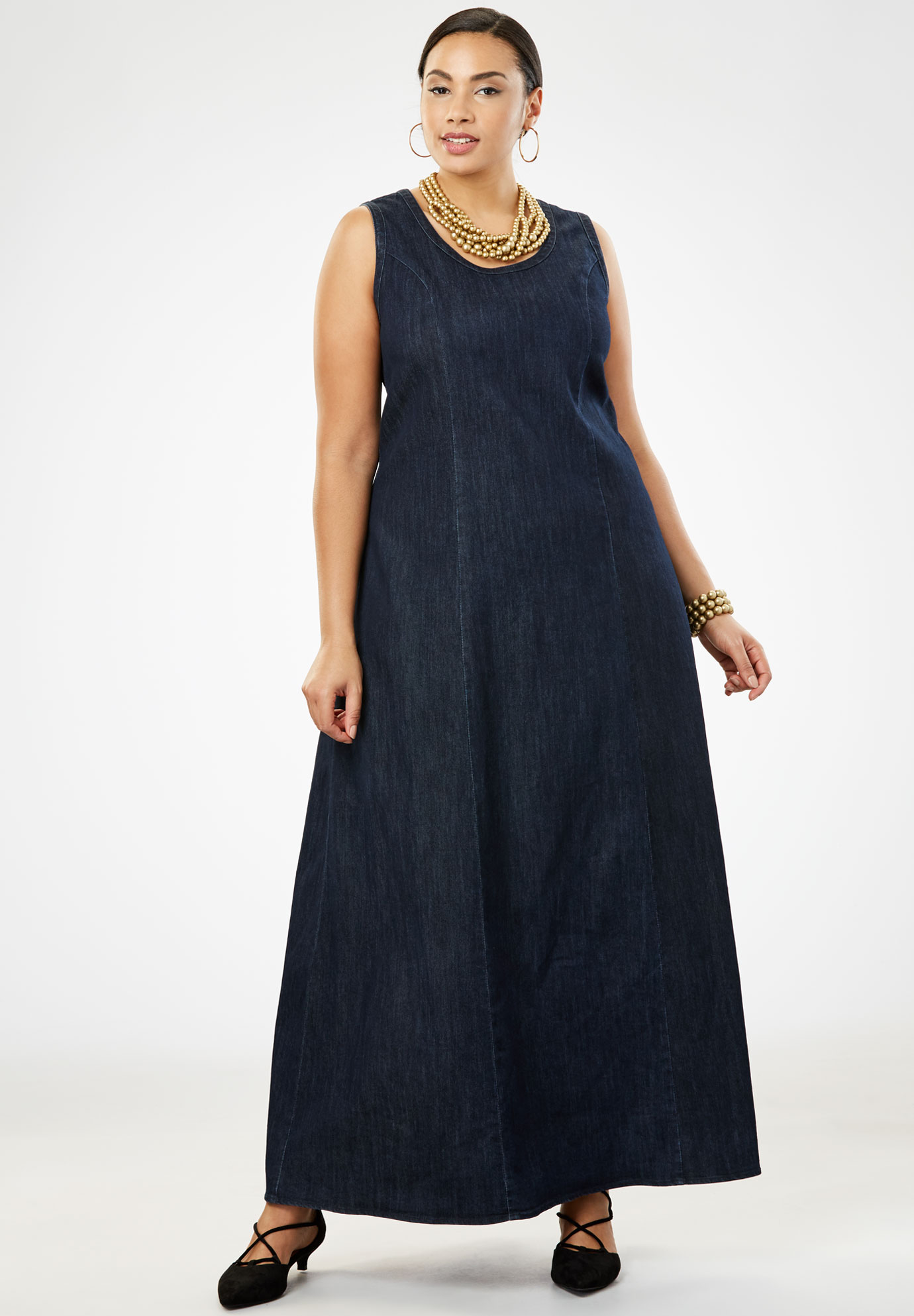 14cfd3e1241fe Denim Maxi Dress| Plus Size Casual Dresses | Full Beauty
