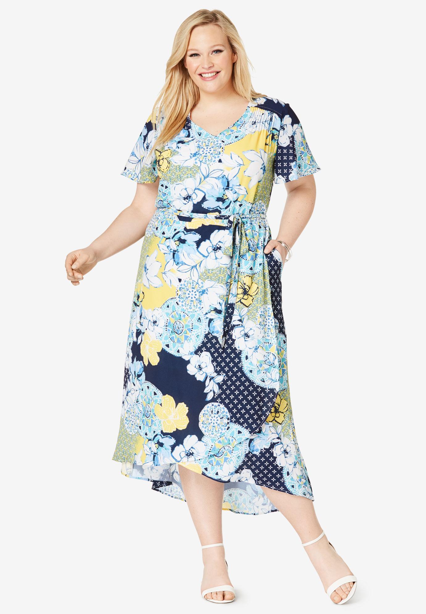 Plus Size High Low Maxi Dresses