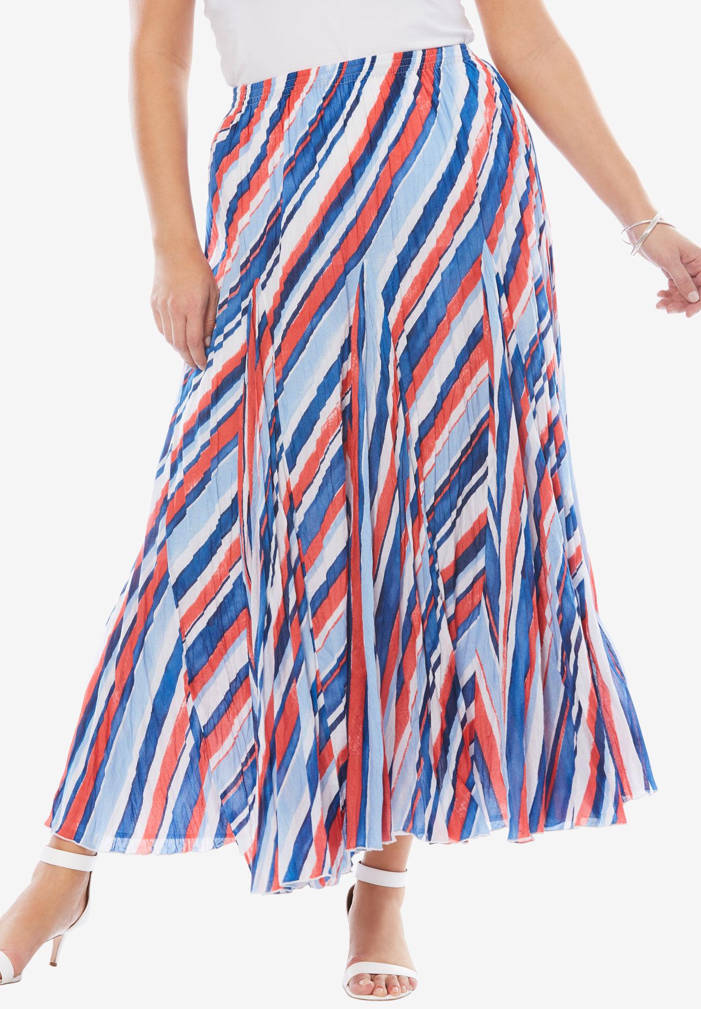 26f37ed319 Cotton Crinkled Maxi Skirt  Plus Size Skirts   Full Beauty