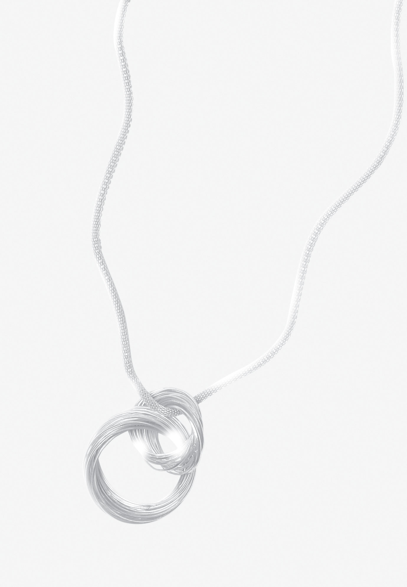 Circle Knot Necklace, SILVER