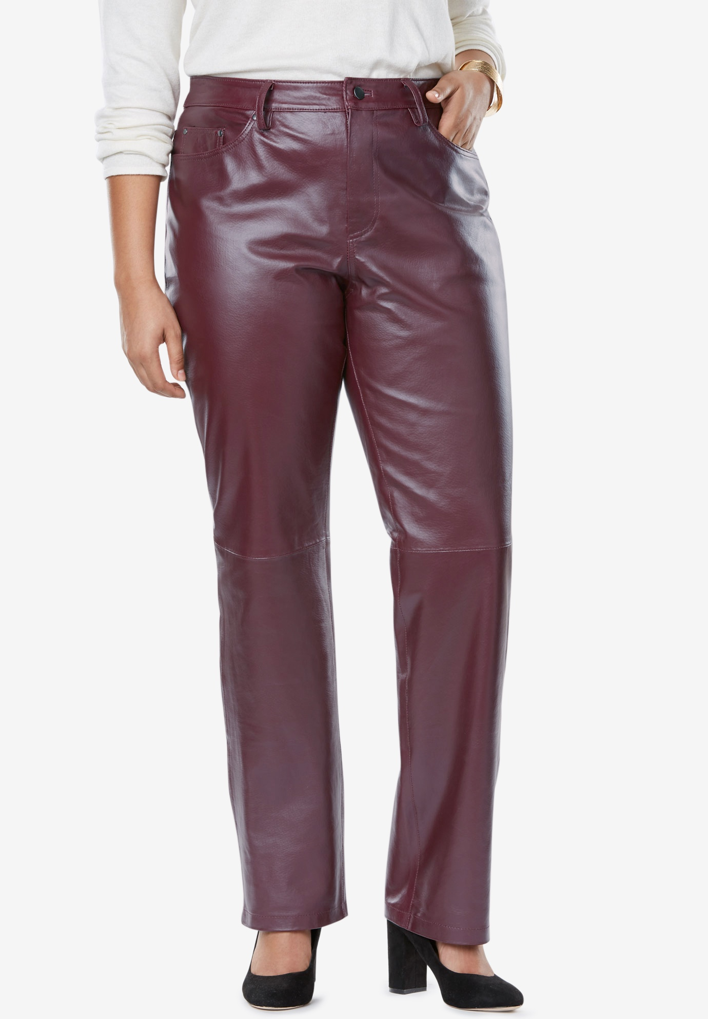 fa5ea21f5040 Straight Leg Leather Pants