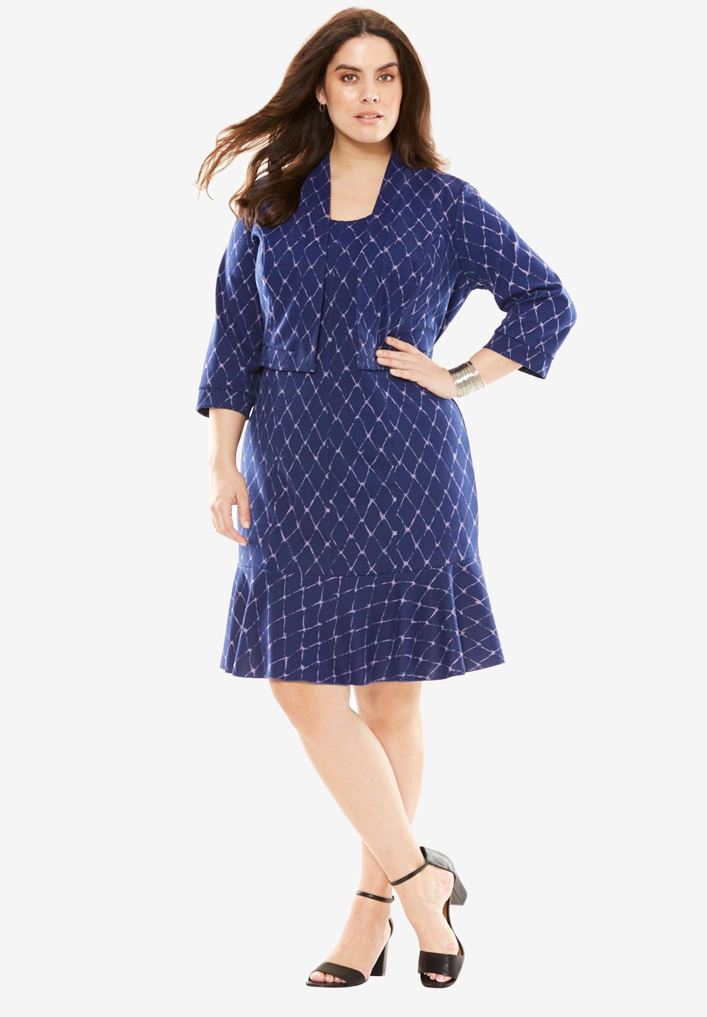 Ponte Jacket Dress  Plus Size Career Dresses   Full Beauty