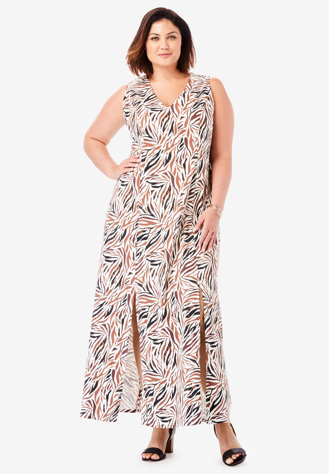 Denim A-Line Maxi Dress