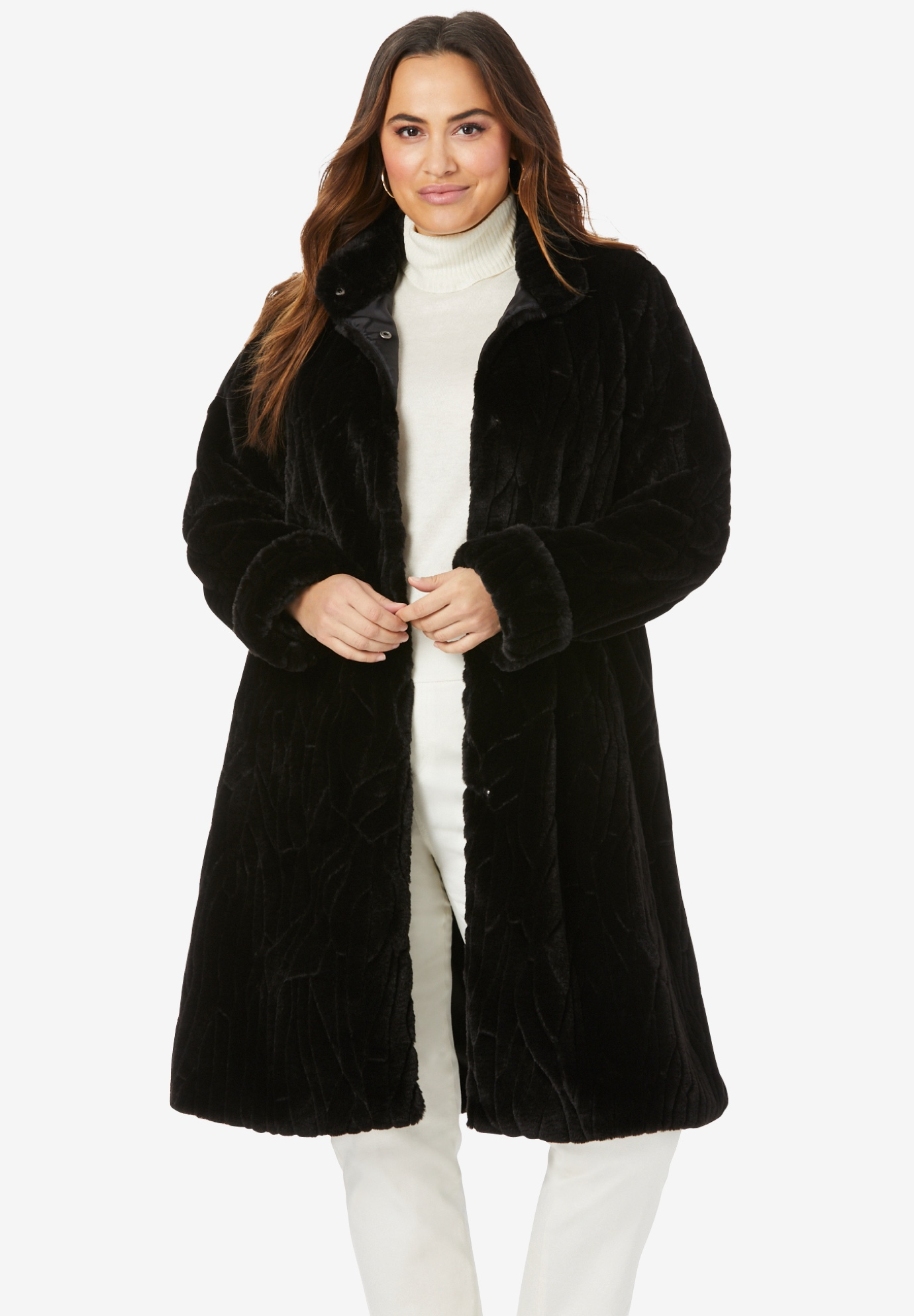 537b076e687 Faux Fur Swing Coat