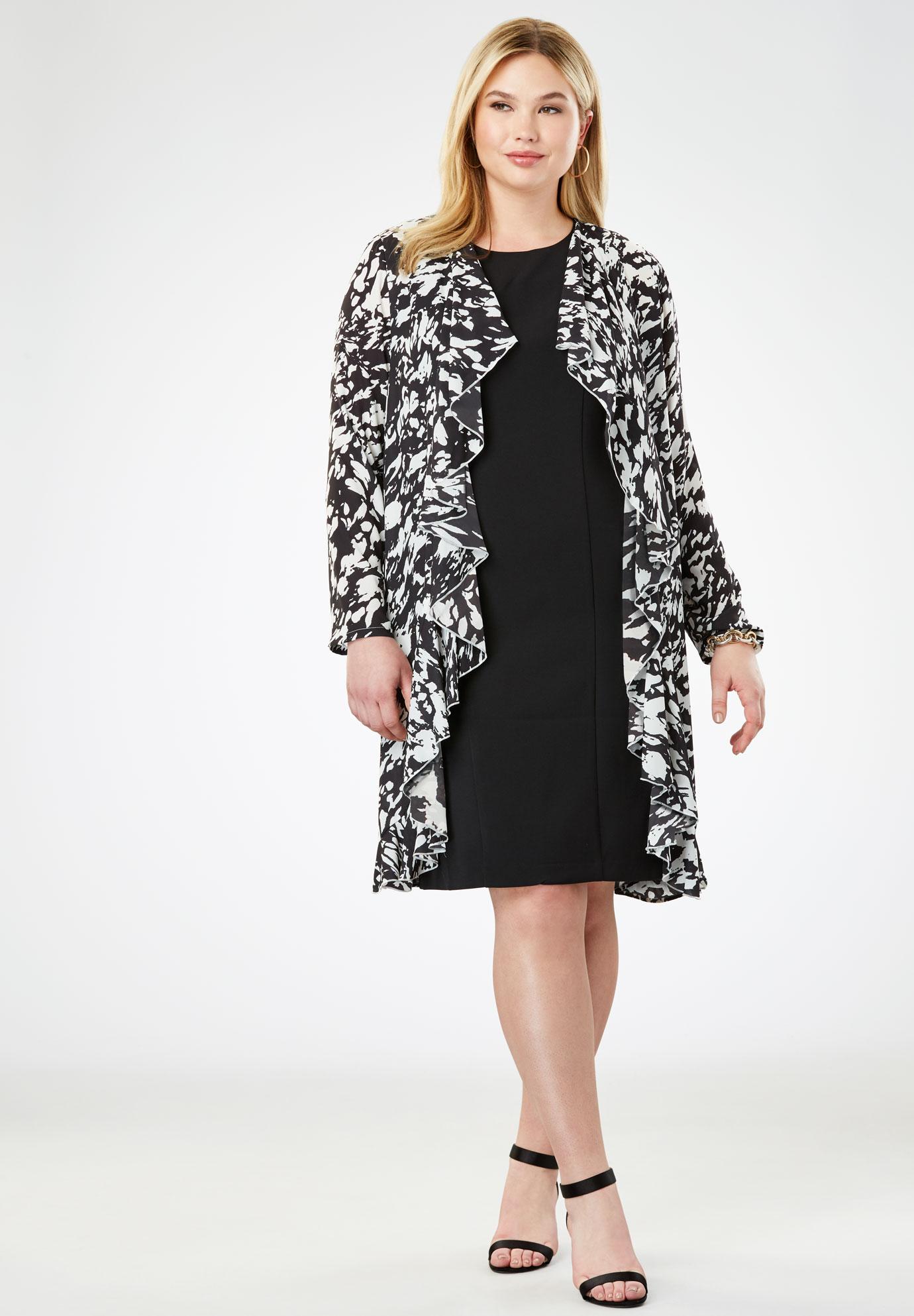 Cascade Jacket Dress | Plus Size Suits & Sets | Full Beauty