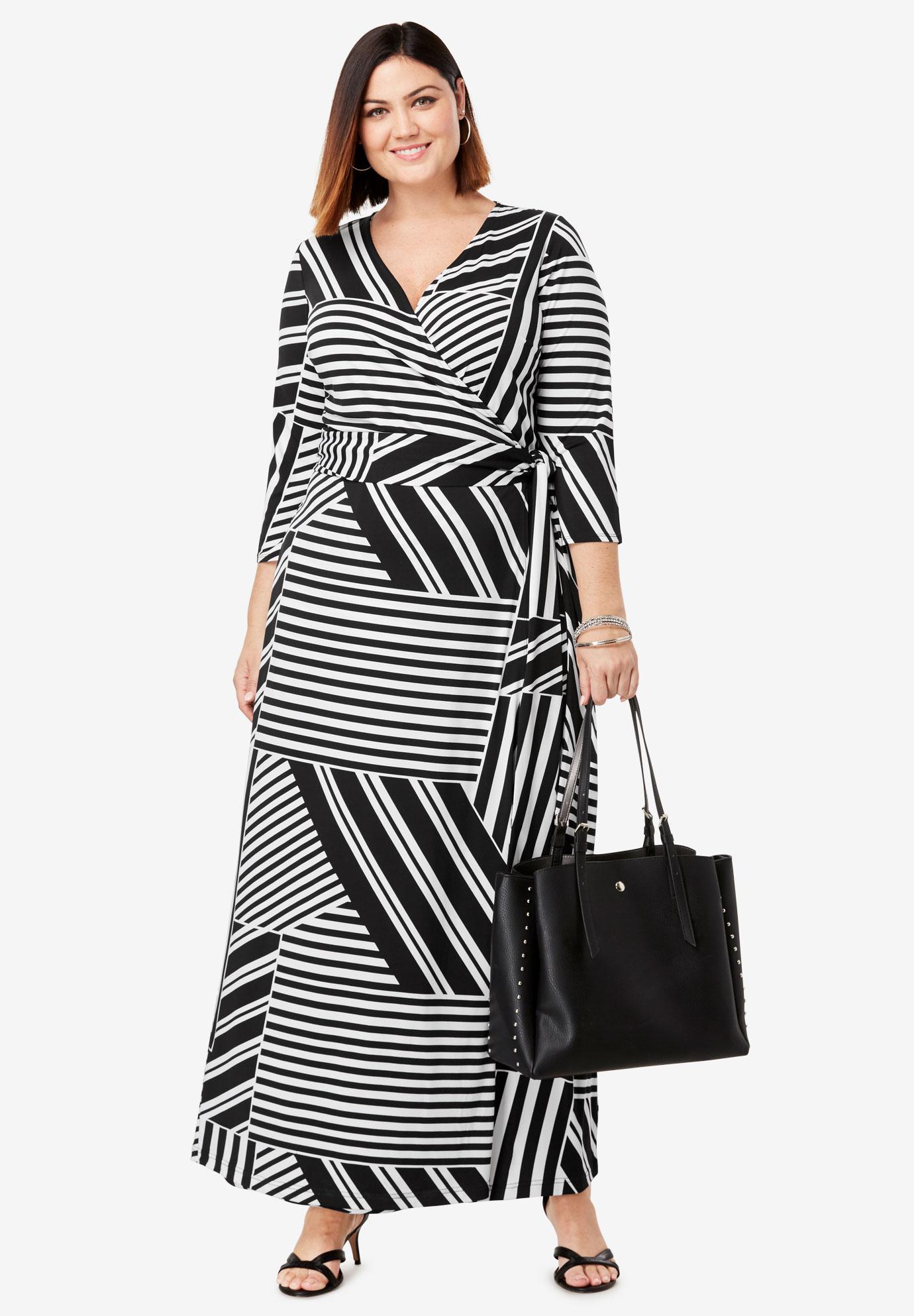 cad37ed353c93 Faux Wrap Maxi Dress