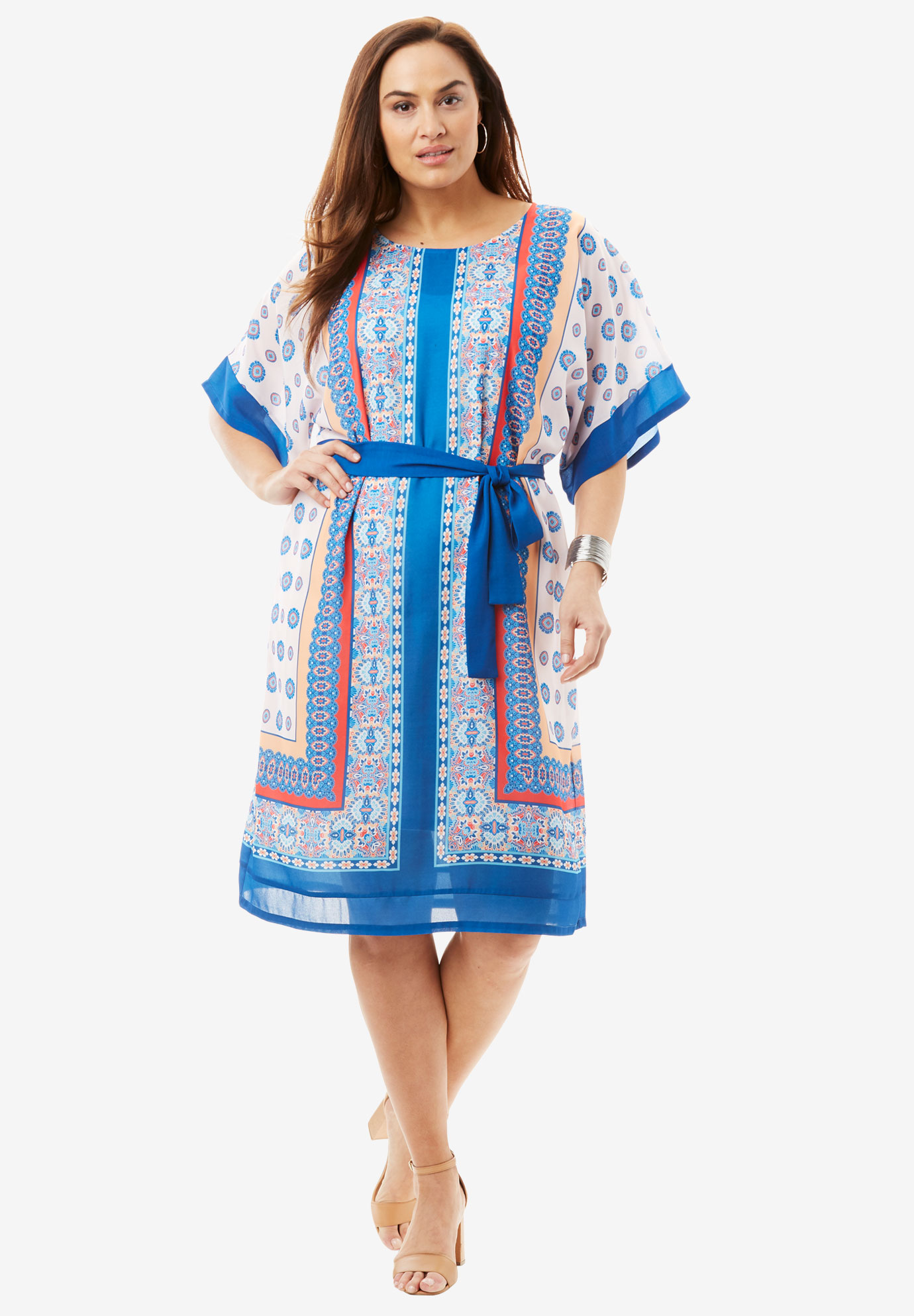 Belted Georgette Dress,
