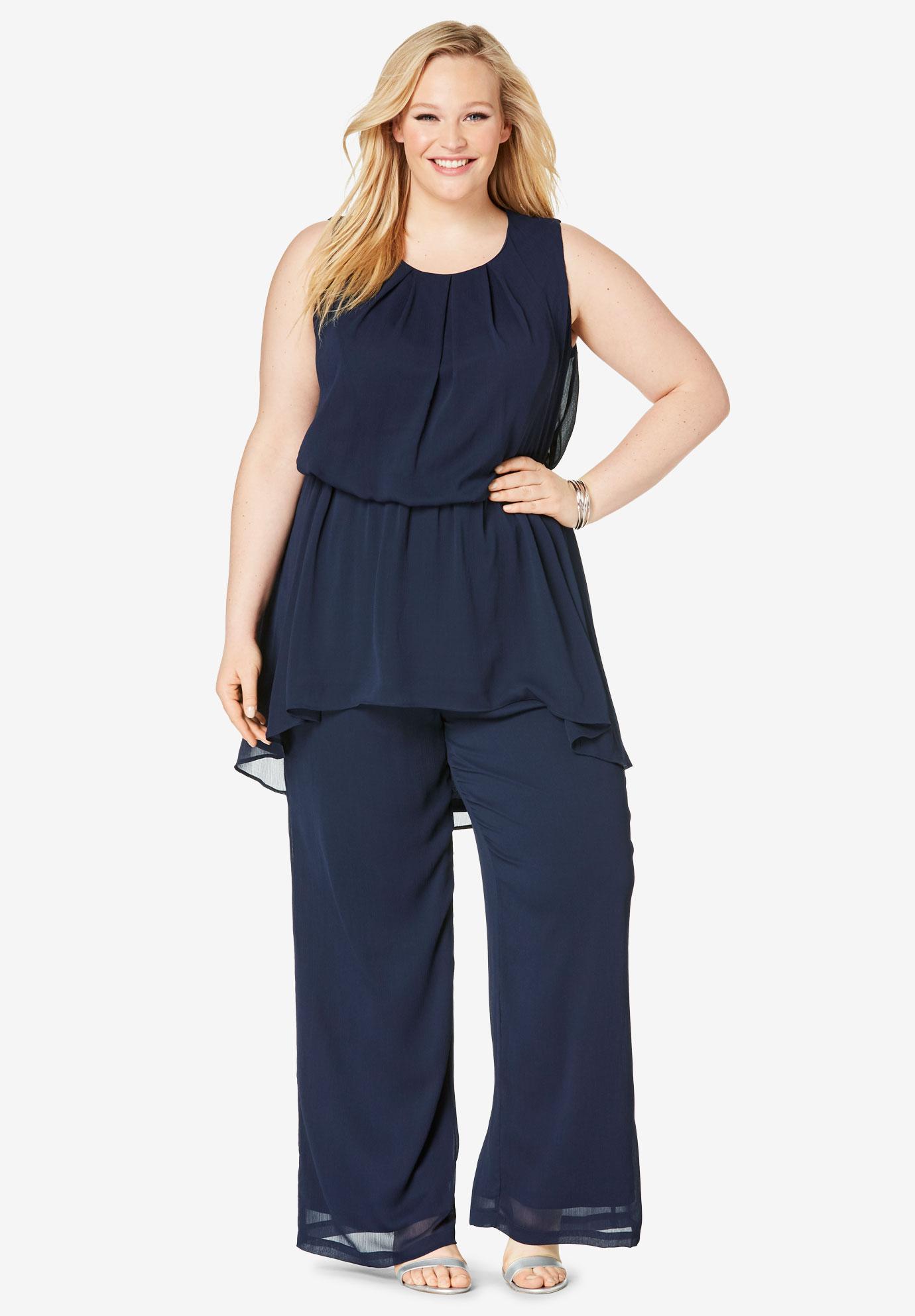 5c8188c174 2-Piece Wide Leg Pant Set| Plus Size Sets | Full Beauty
