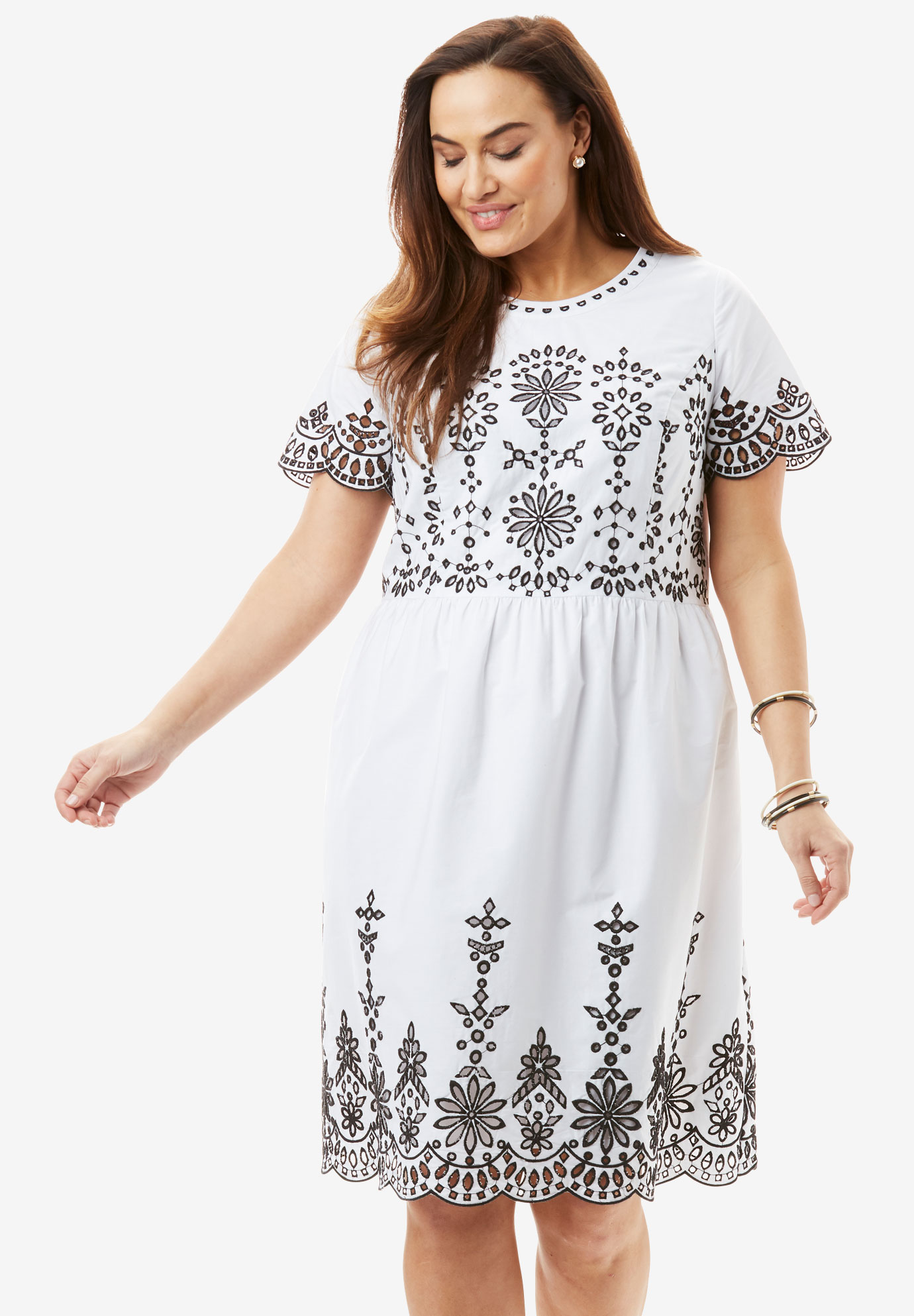 Eyelet Dress| Plus Size Casual Dresses | Full Beauty