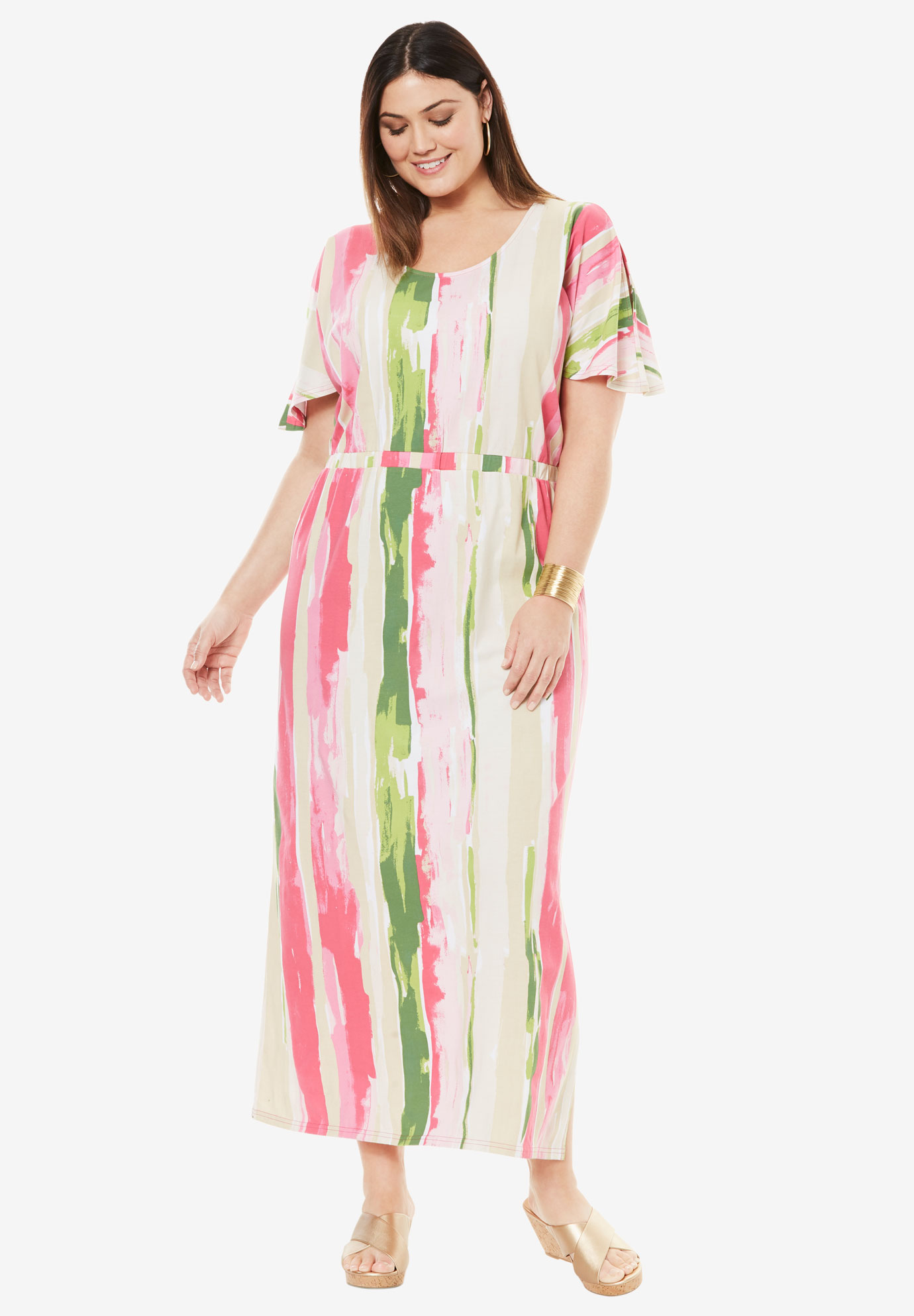 Blouson Maxi Dress,