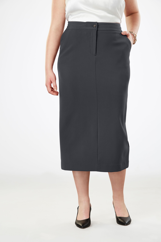 b155b2a1c59c Tummy Control Bi-Stretch Midi Skirt
