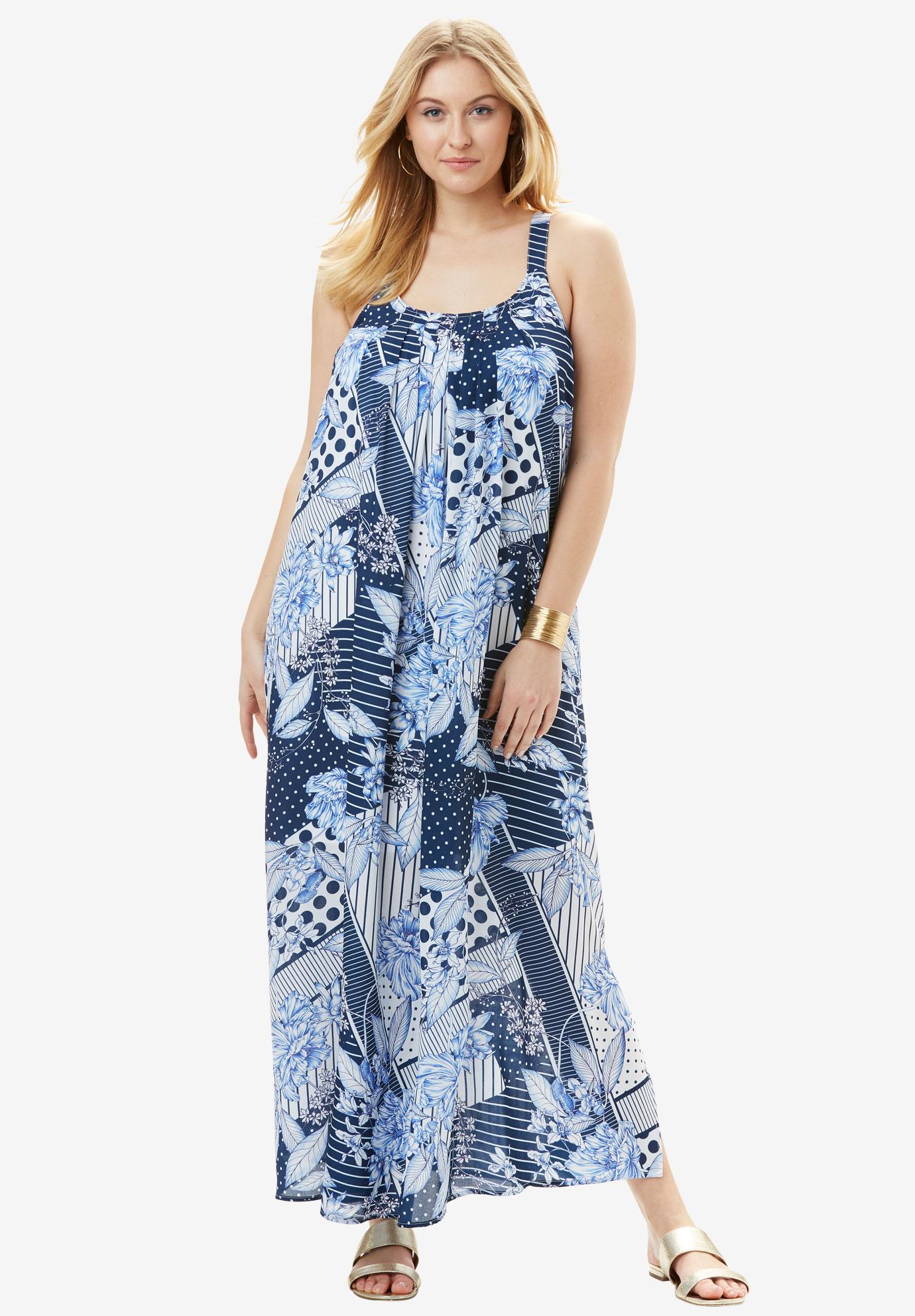 d6c85e45fd A-Line Tank Maxi Dress| Plus Size Casual Dresses | Full Beauty