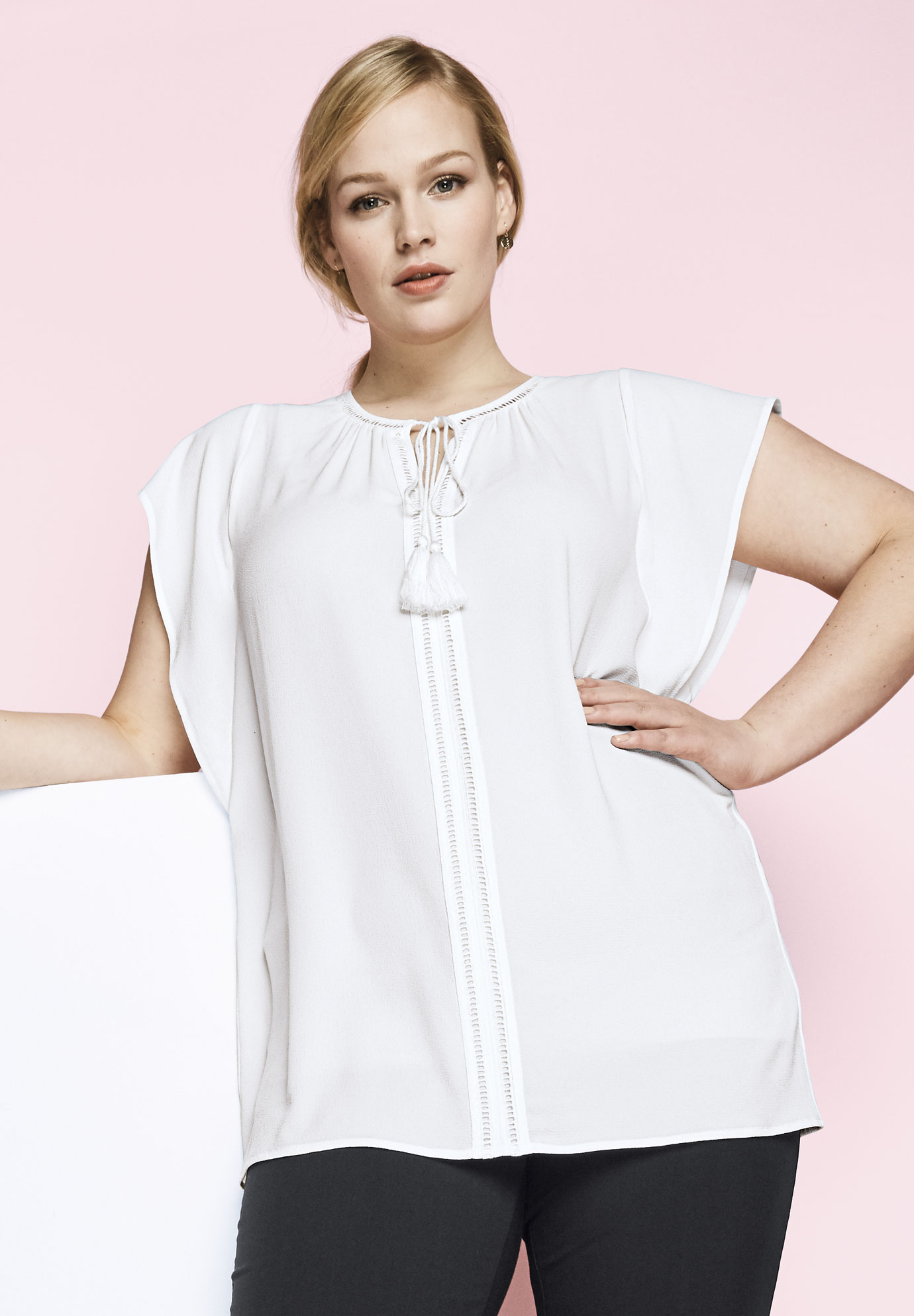 373994c995c Tie-Neck Blouse| Plus Size Tunics | Full Beauty