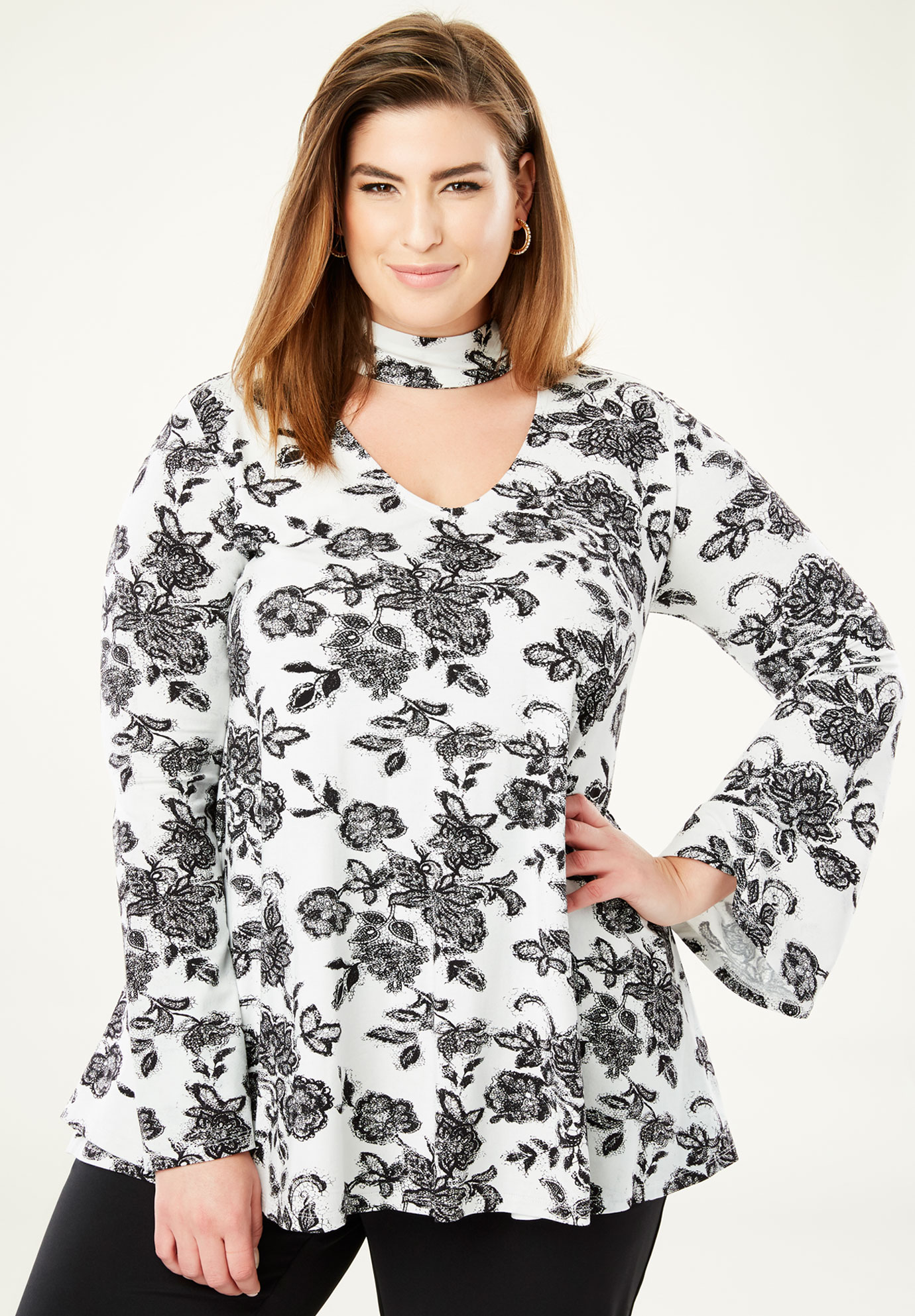 Banded Neck Tunic,