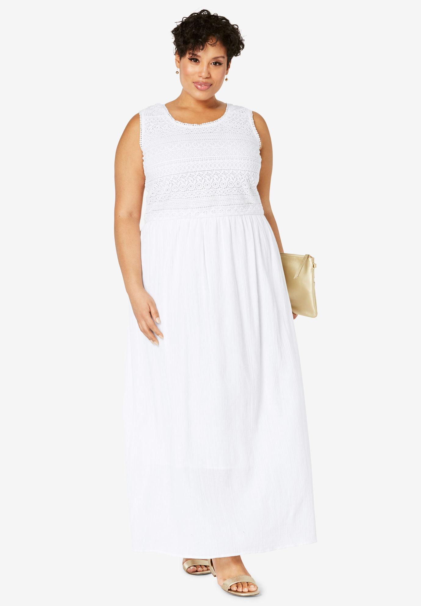Gauze Maxi Dress | Plus Size Maxi Dresses | Full Beauty