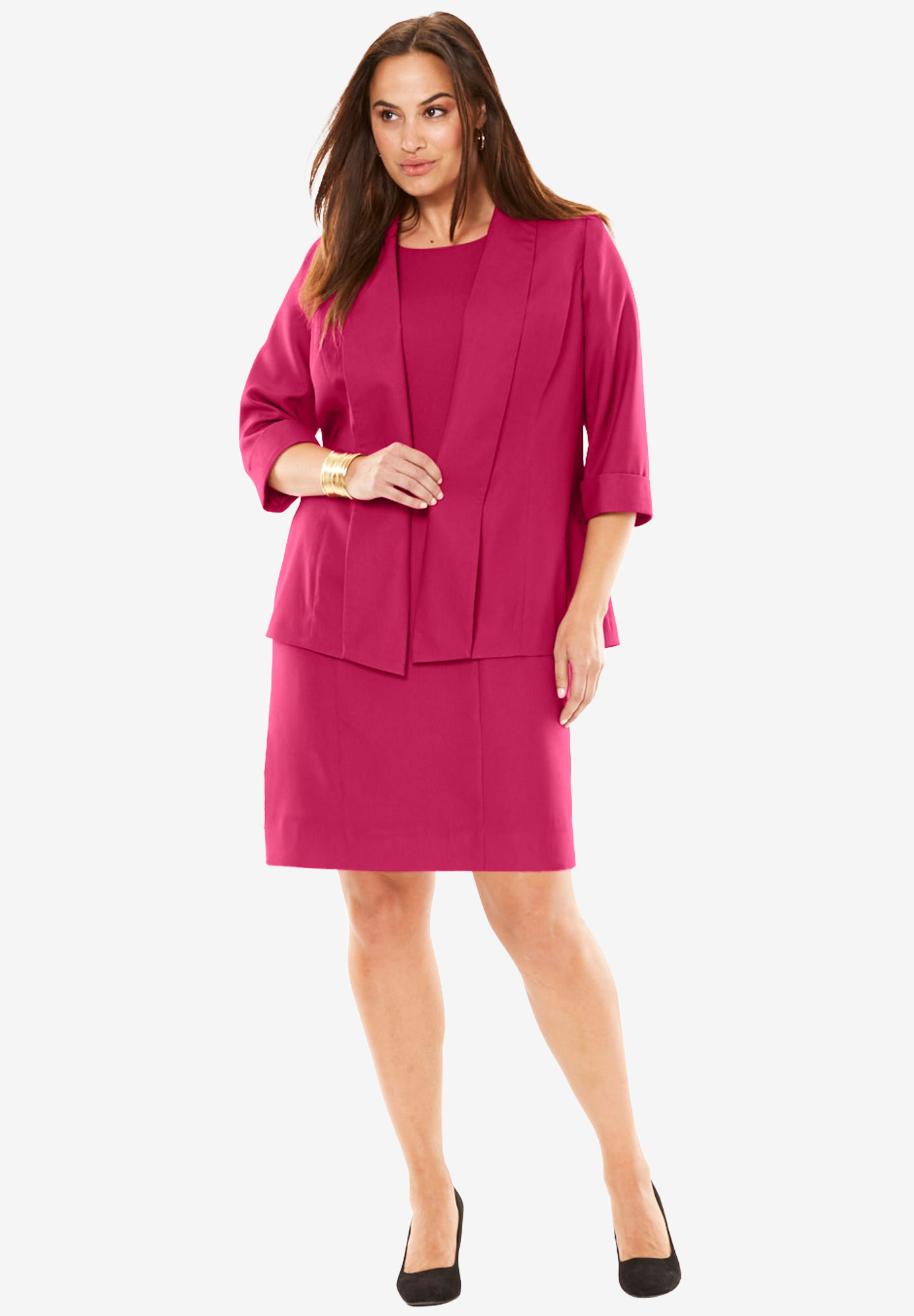 Shawl Collar Jacket Dress Plus Size Special Occasion Full Beauty