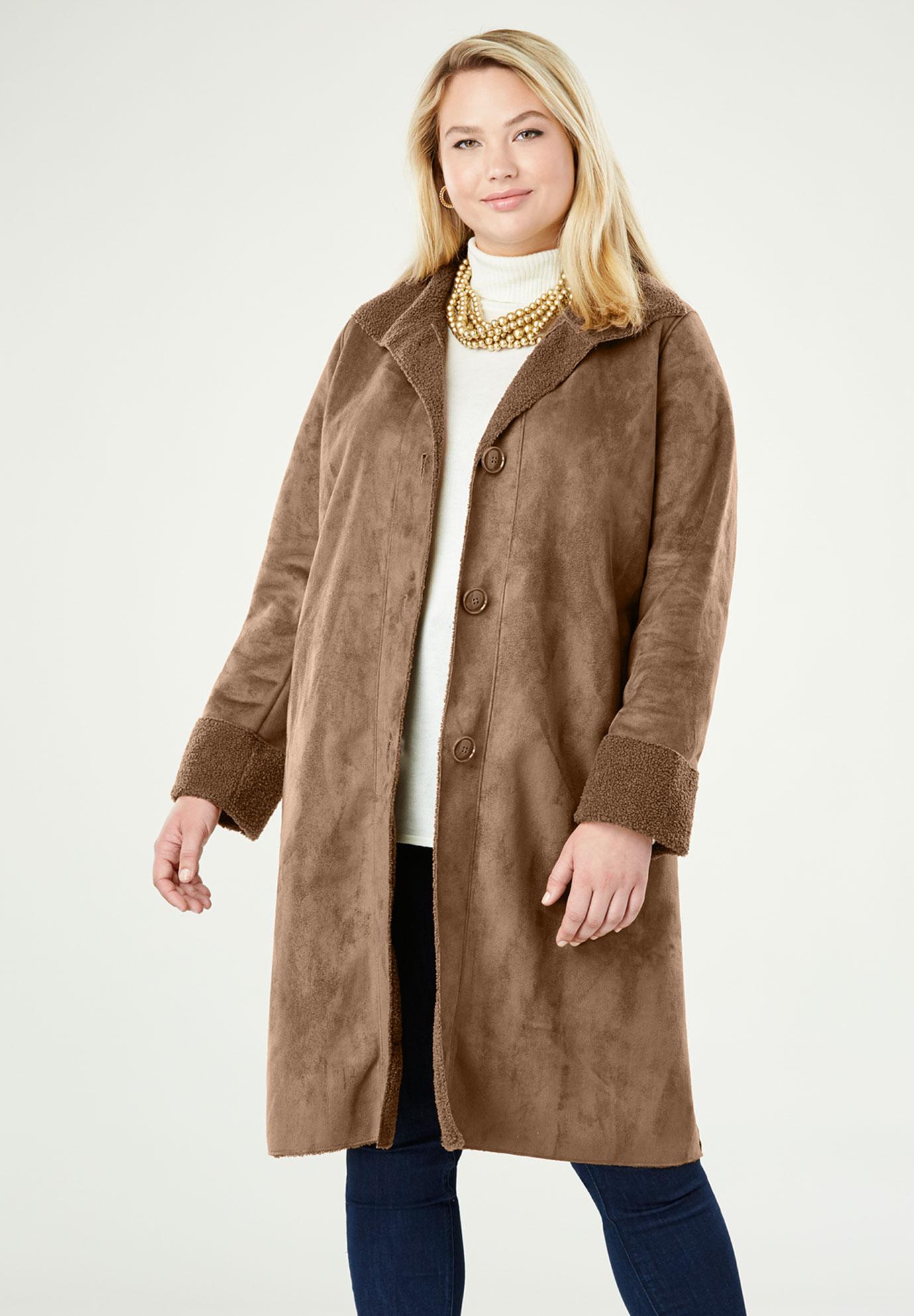 981a2b7520728 Faux Shearling Coat