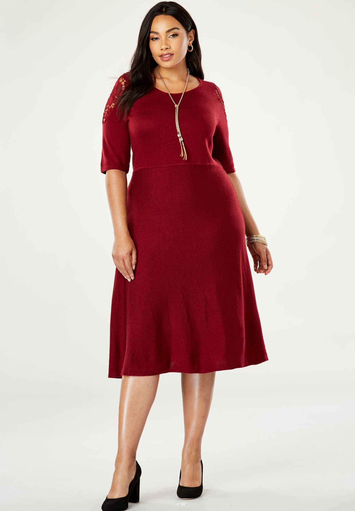 Applique Sweater Dress,