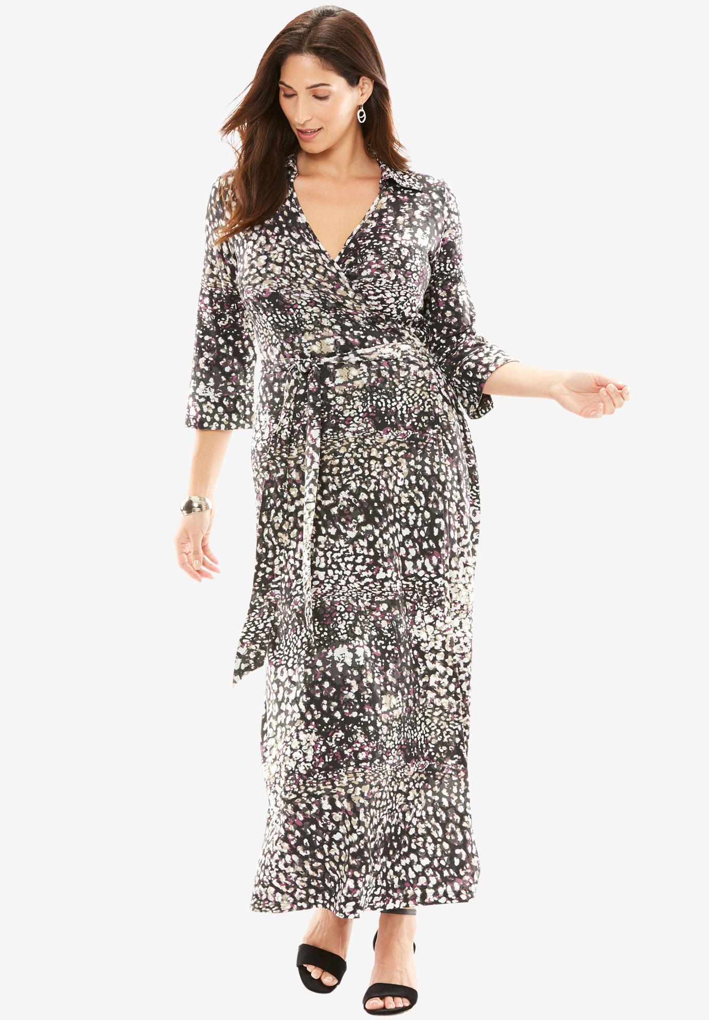 8722f20a67 Wrap Style Maxi Dress| Plus Size Career Dresses | Full Beauty