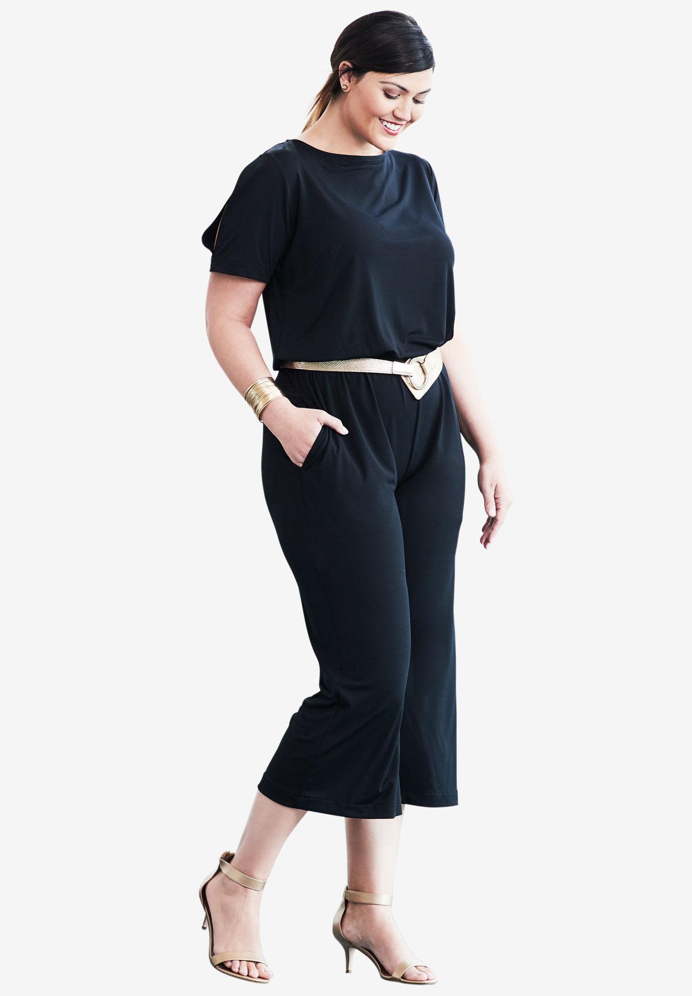 e997e1208bd0 Cold shoulder capri jumpsuit plus size casual dresses full beauty jpg  1380x1986 Capri jumpsuit