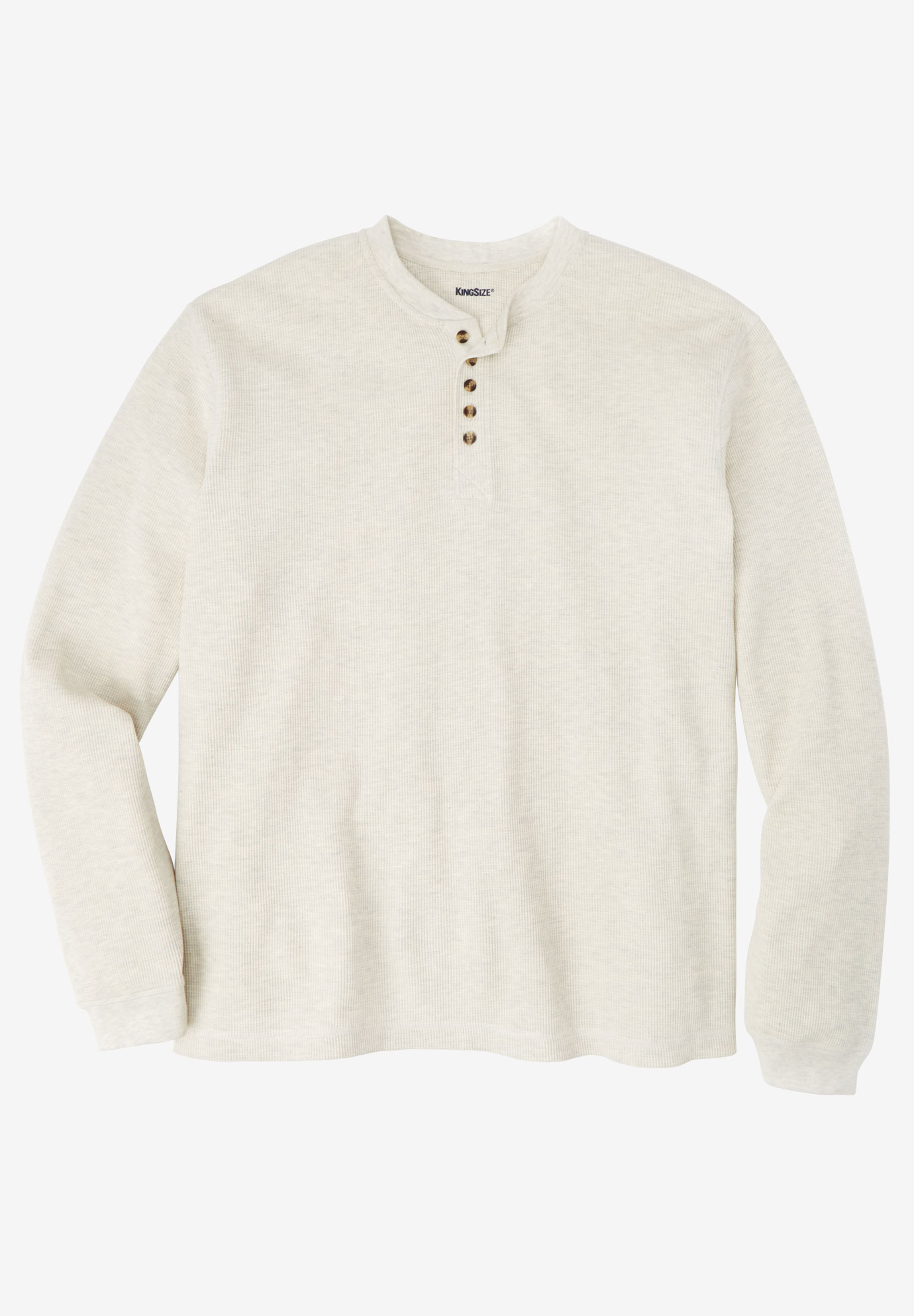 Waffle Knit Thermal Henley Tee,