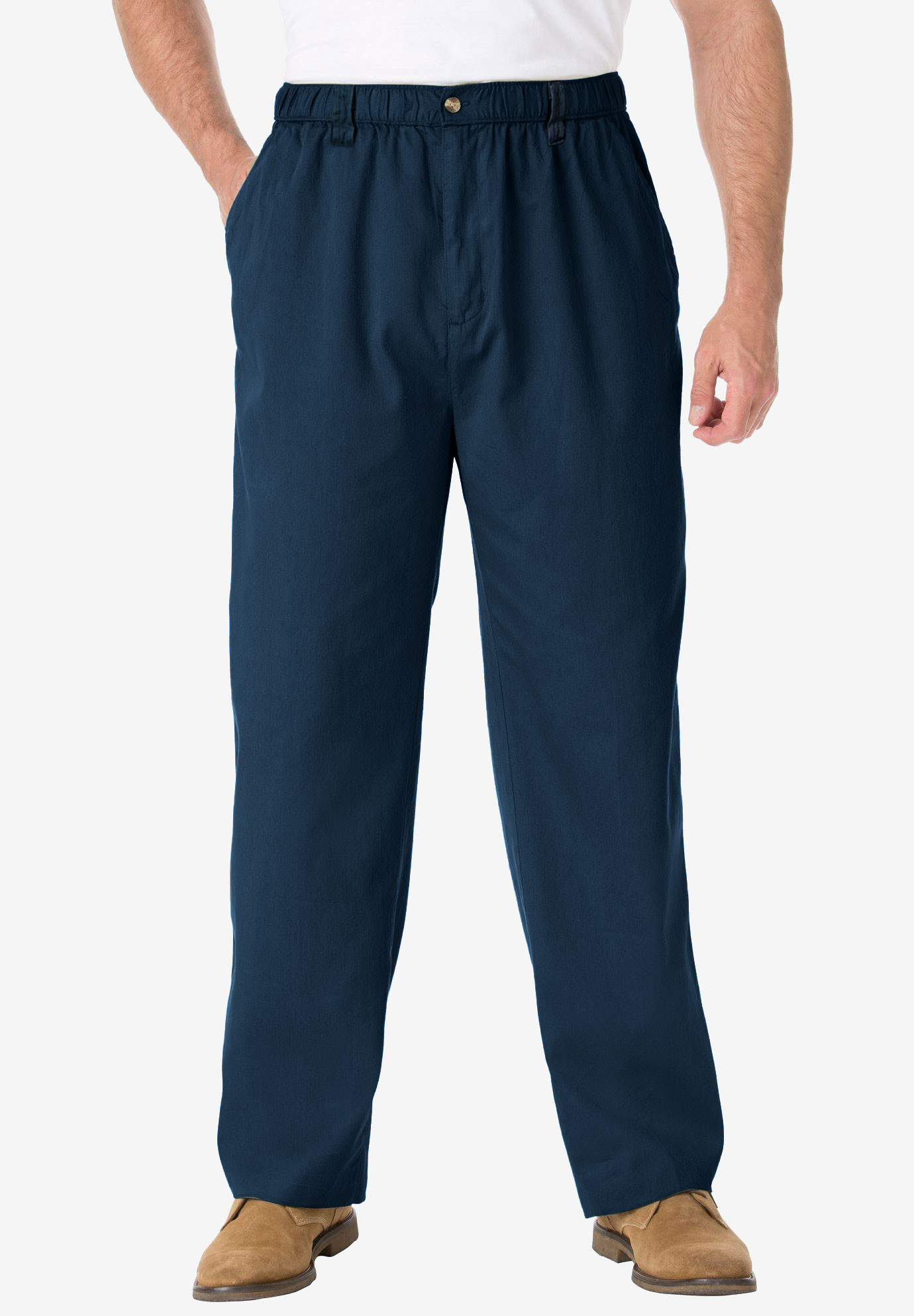 Knockarounds® Full-Elastic Waist Pants in Twill or Denim,