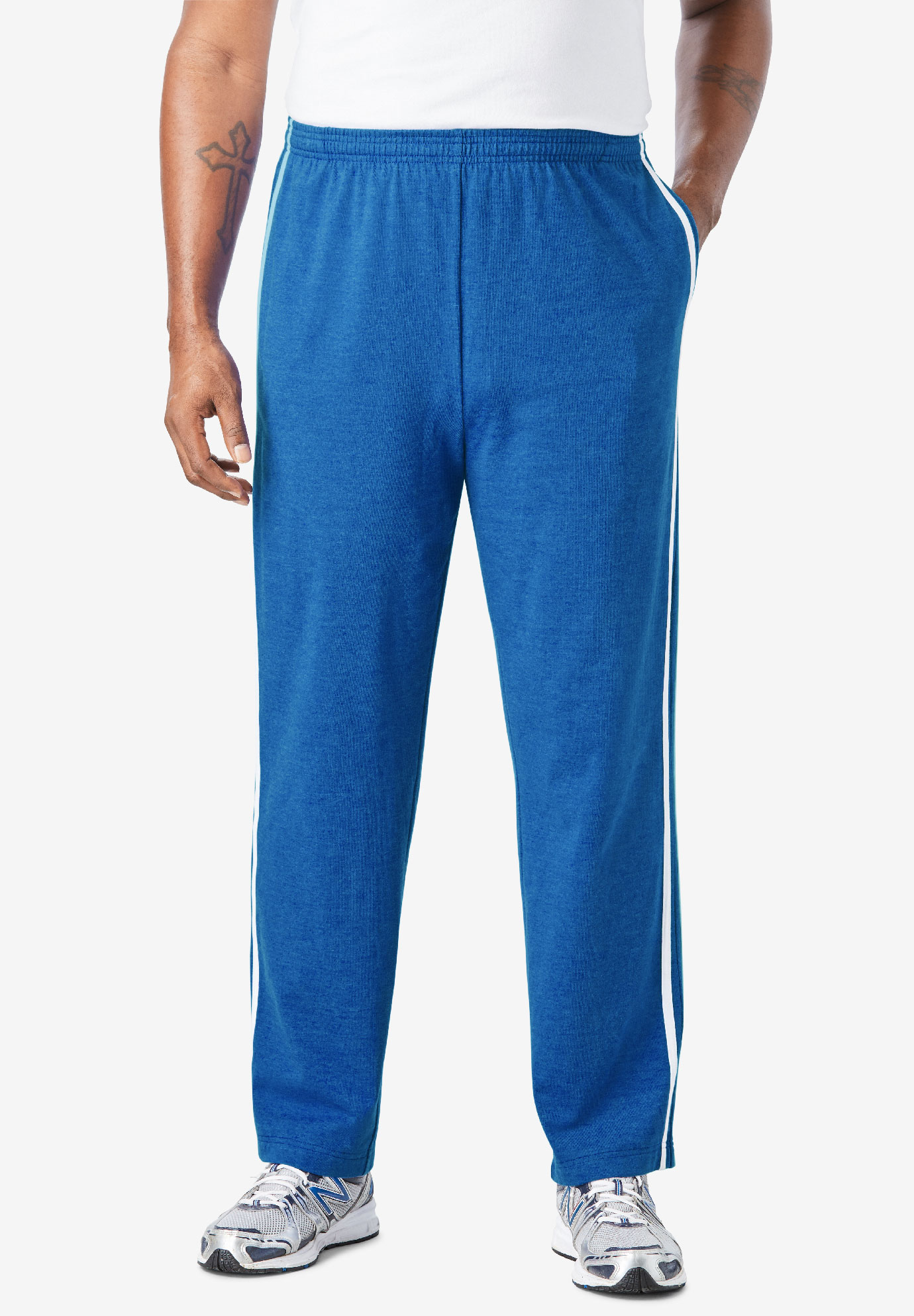 3654a7f8149 Lightweight Sweat Pants with Racing Stripes