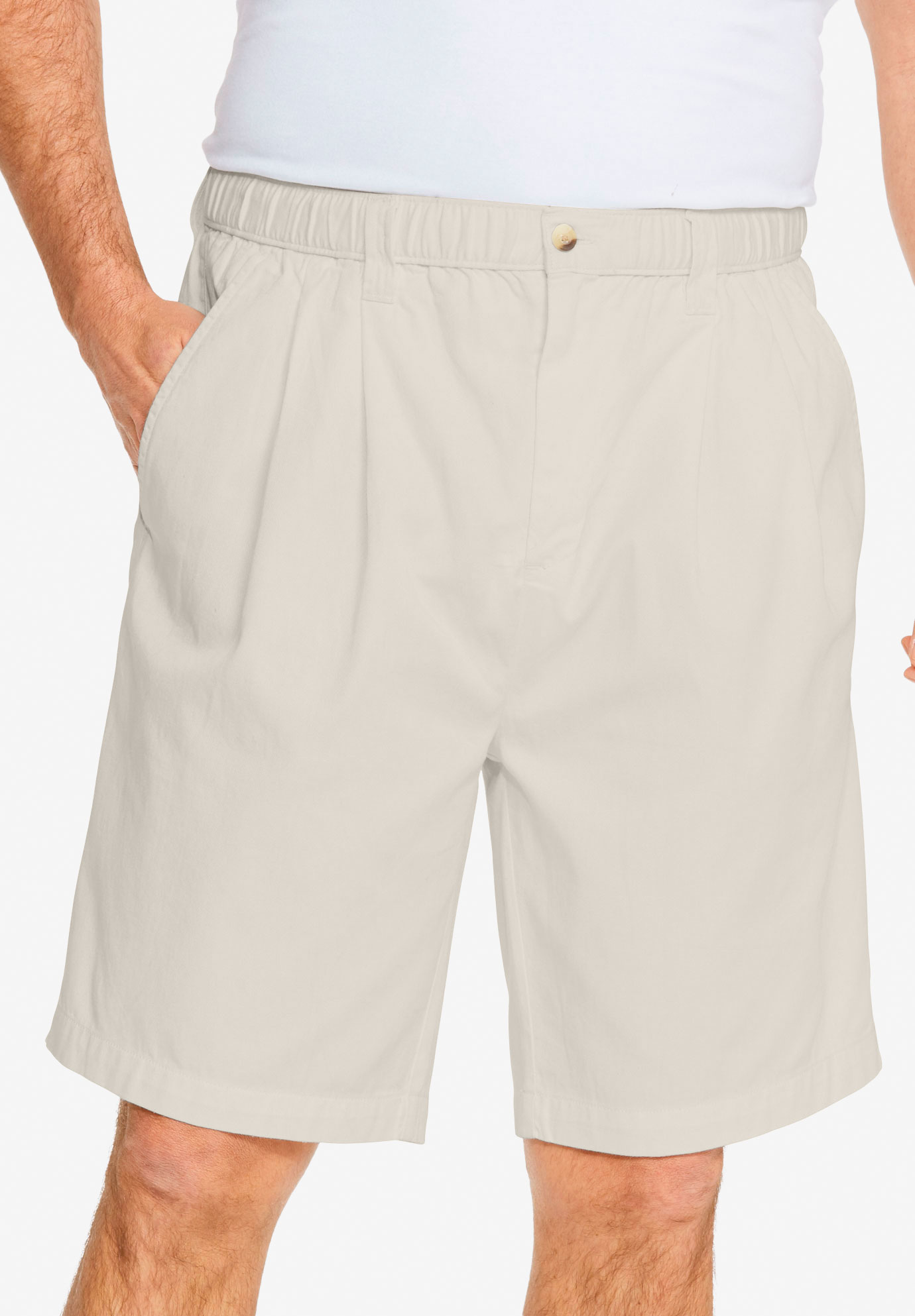 "Knockarounds® 8"" Pleat Front Shorts,"