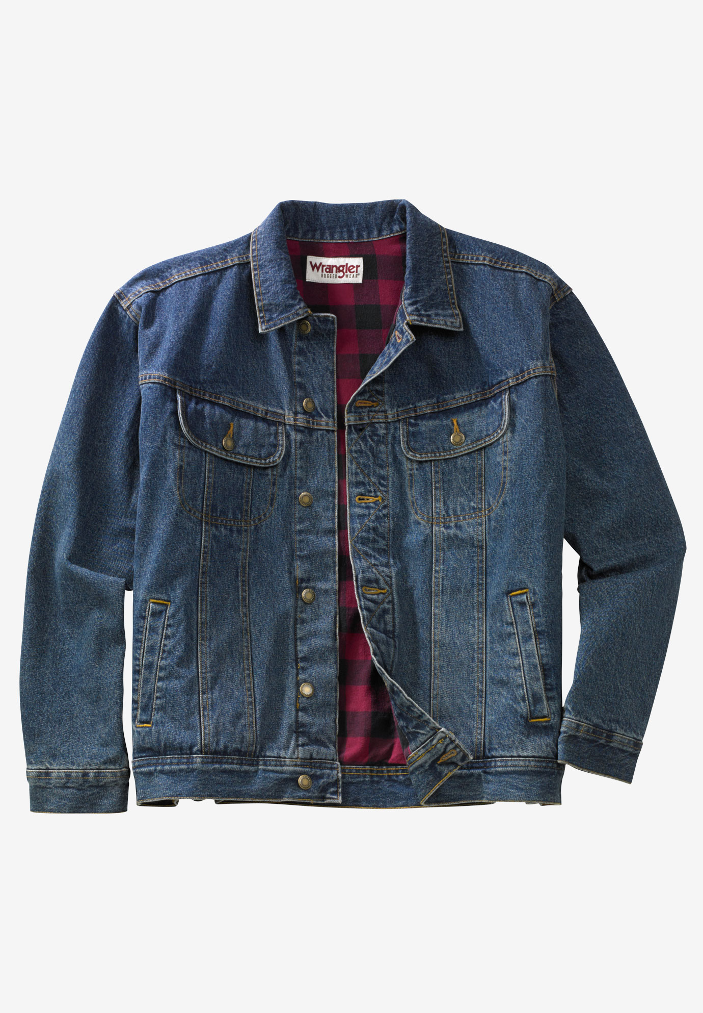 Flannel-Lined Denim Jacket by Wrangler®,