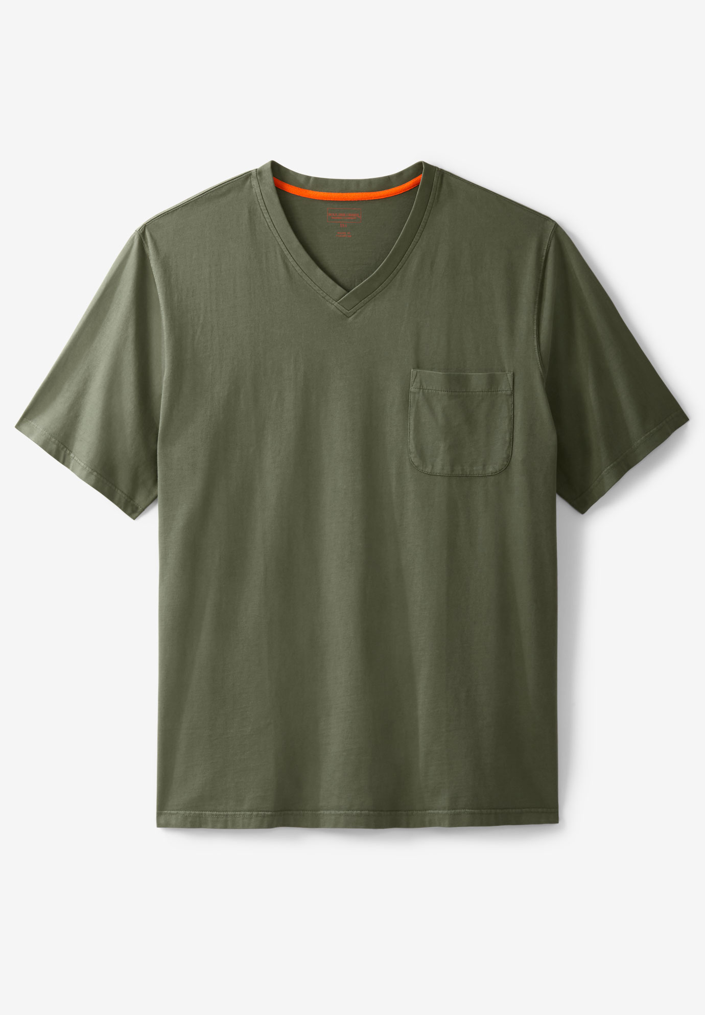 Boulder Creek® Heavyweight Pocket V-Neck Tee,