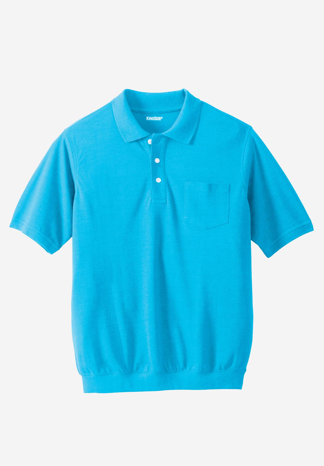 ffb92daad21 Banded Bottom Pocket Piqué Polo Shirt