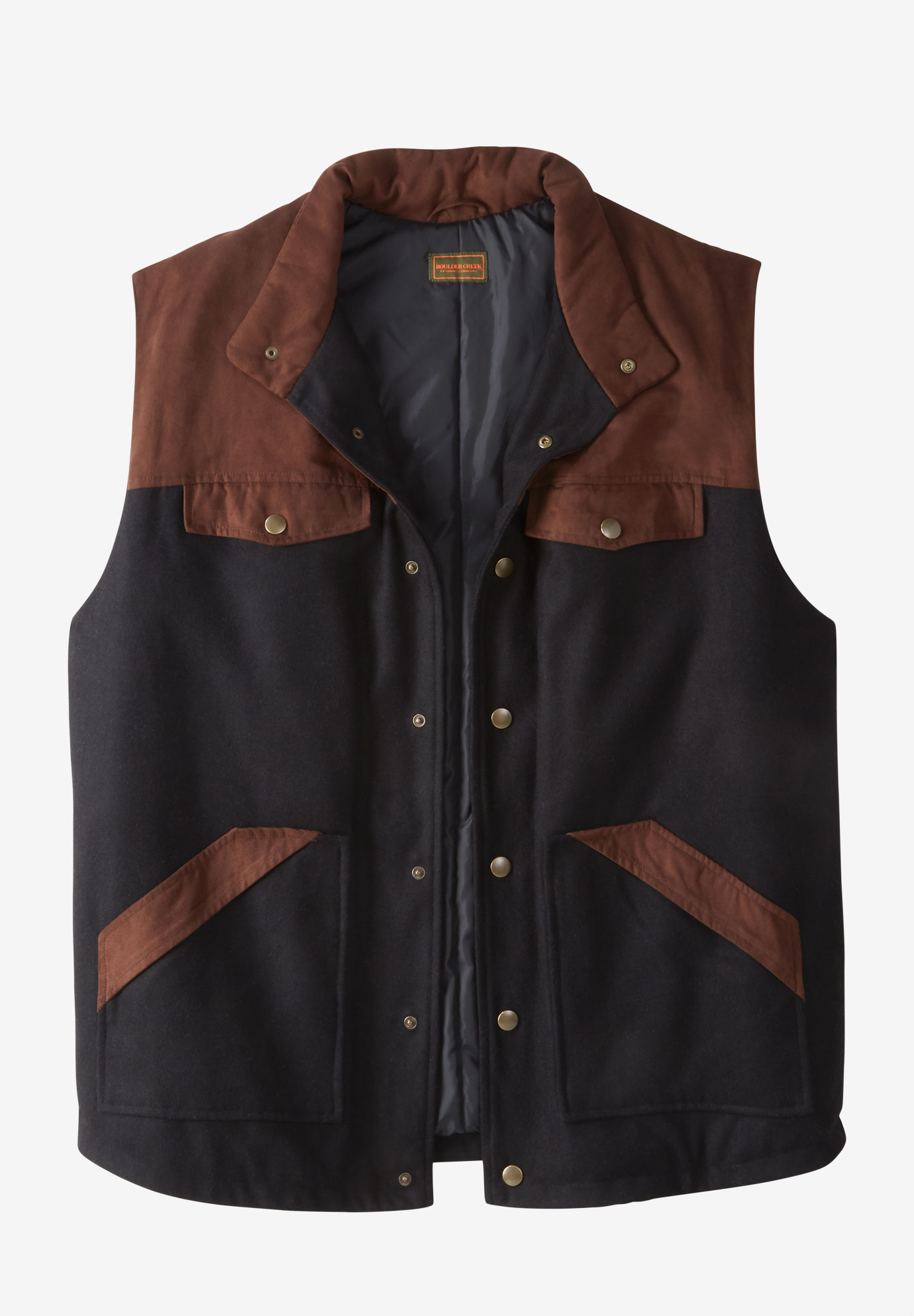 BOULDER CREEK™ PLAID MULTI-POCKET VEST,