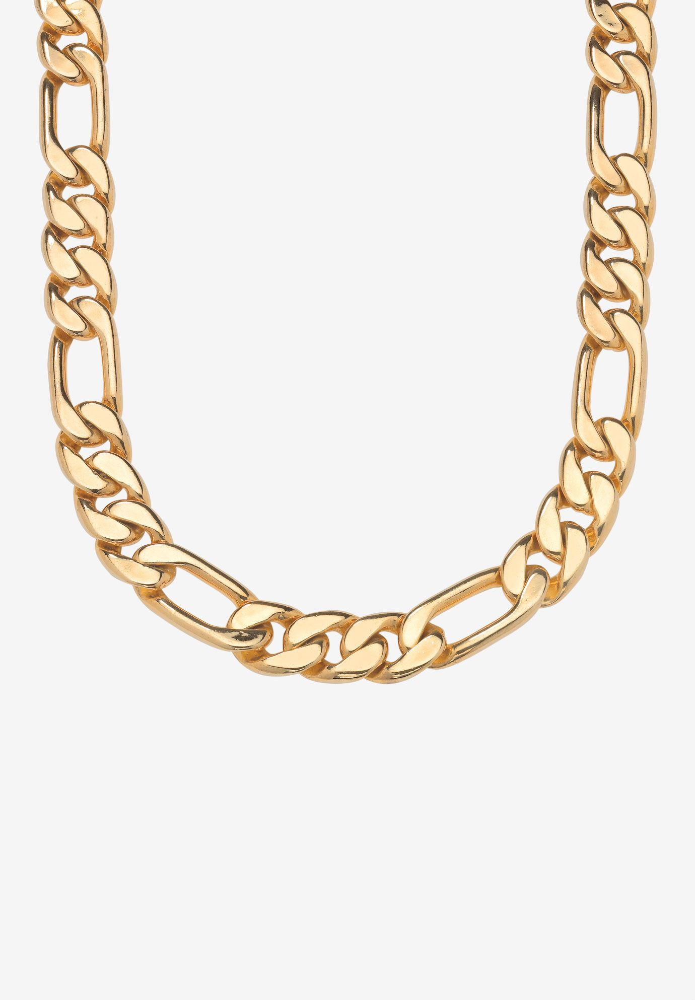 Figaro-Link Necklace 30' , YELLOW GOLD