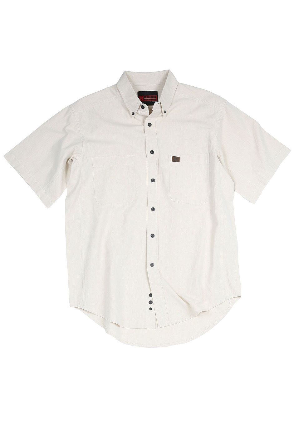 Short-Sleeve Chambray Work Shirt by Wrangler®,