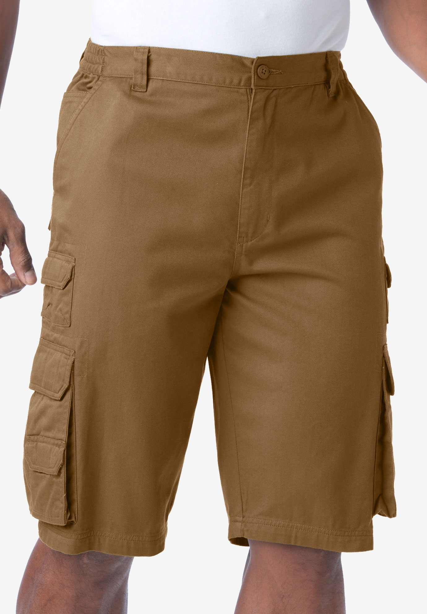1eb34ac09e Ranger Side-Elastic Cargo Shorts by Boulder Creek®| Big and Tall ...