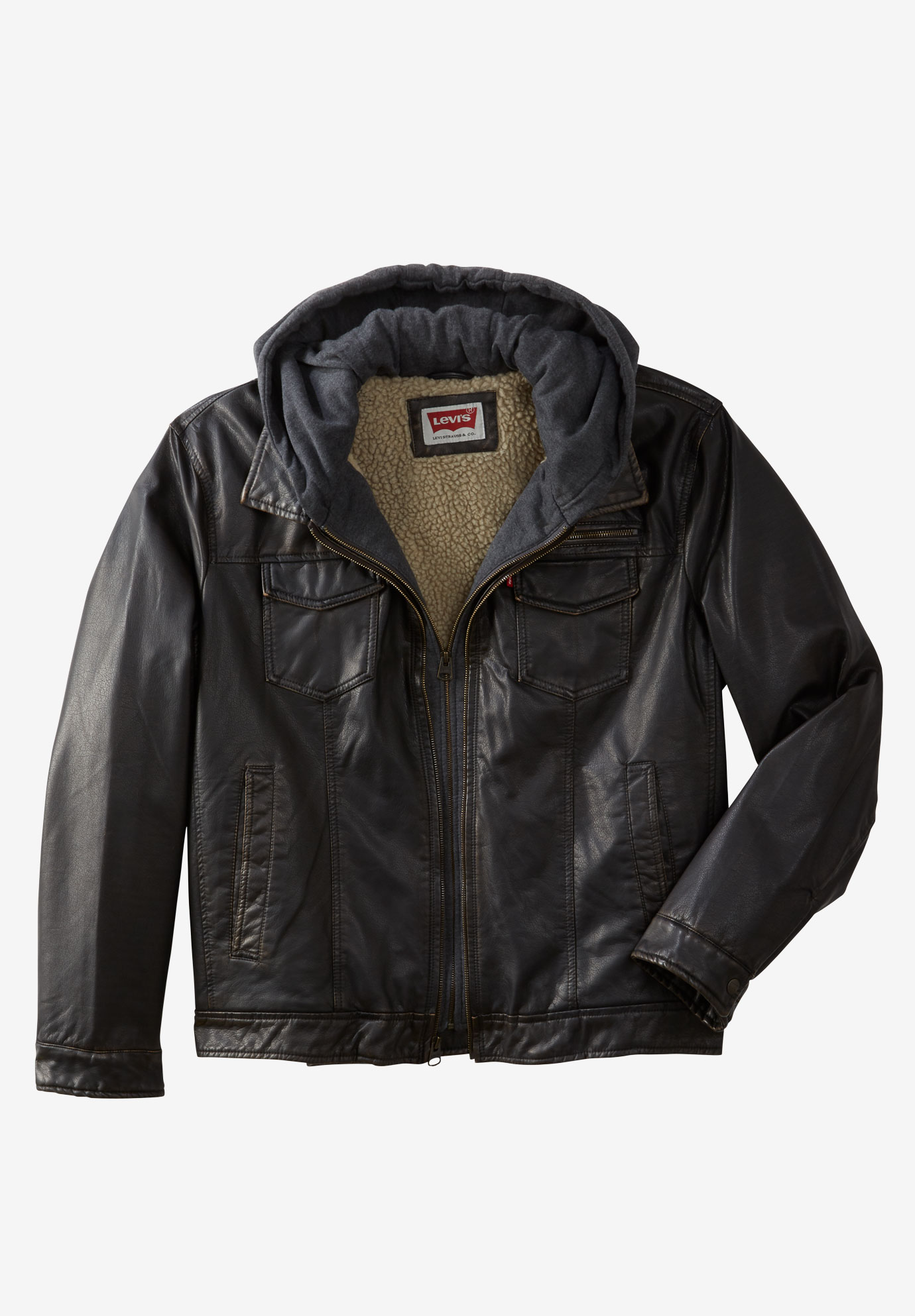 Faux Leather Trucker Jacket by Levis®,