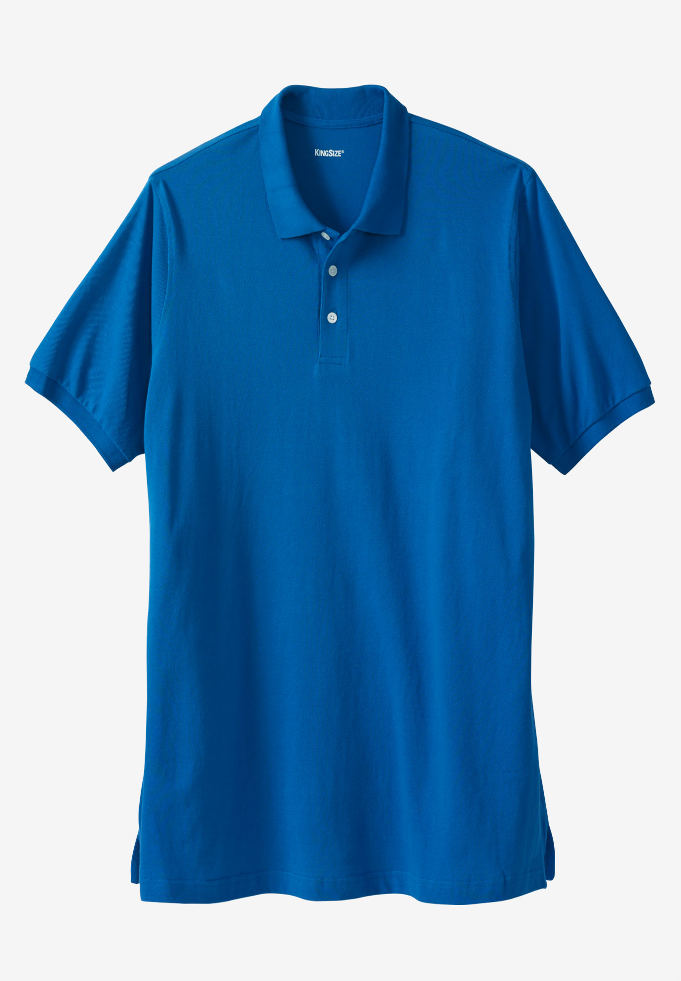 Longer-Length Piqué Polo Shirt,