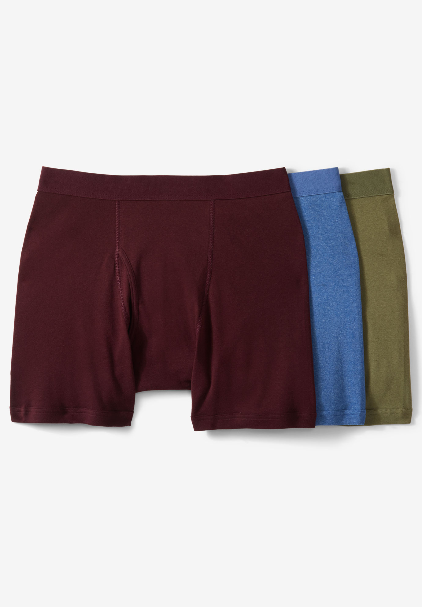 Cotton Mid-Length Briefs 3-Pack,