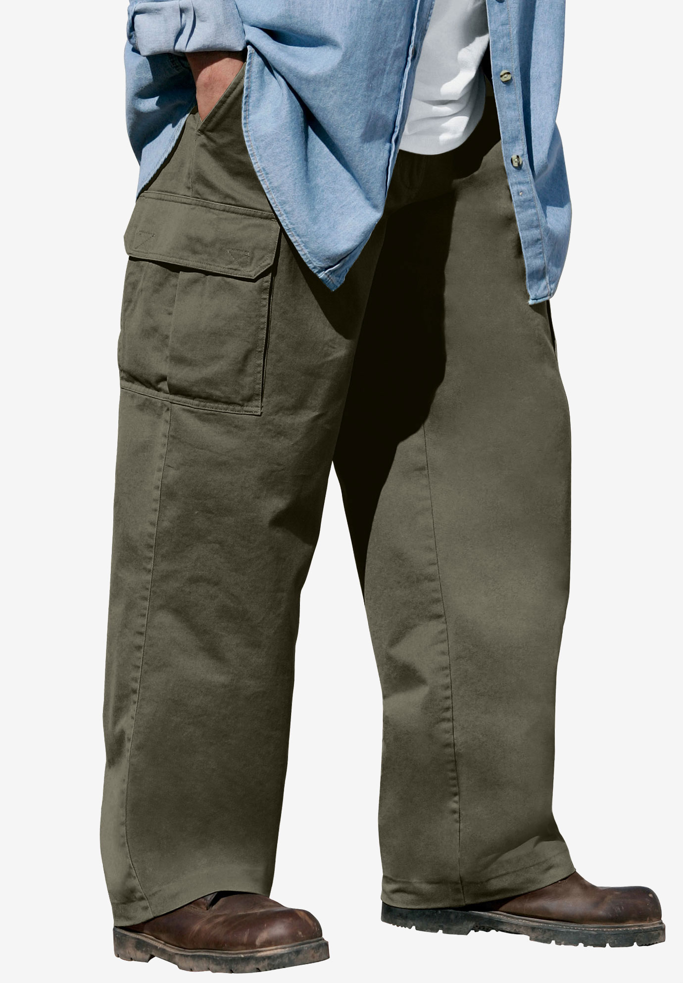 Boulder Creek® Renegade Cargo Pants with Side Elastic,