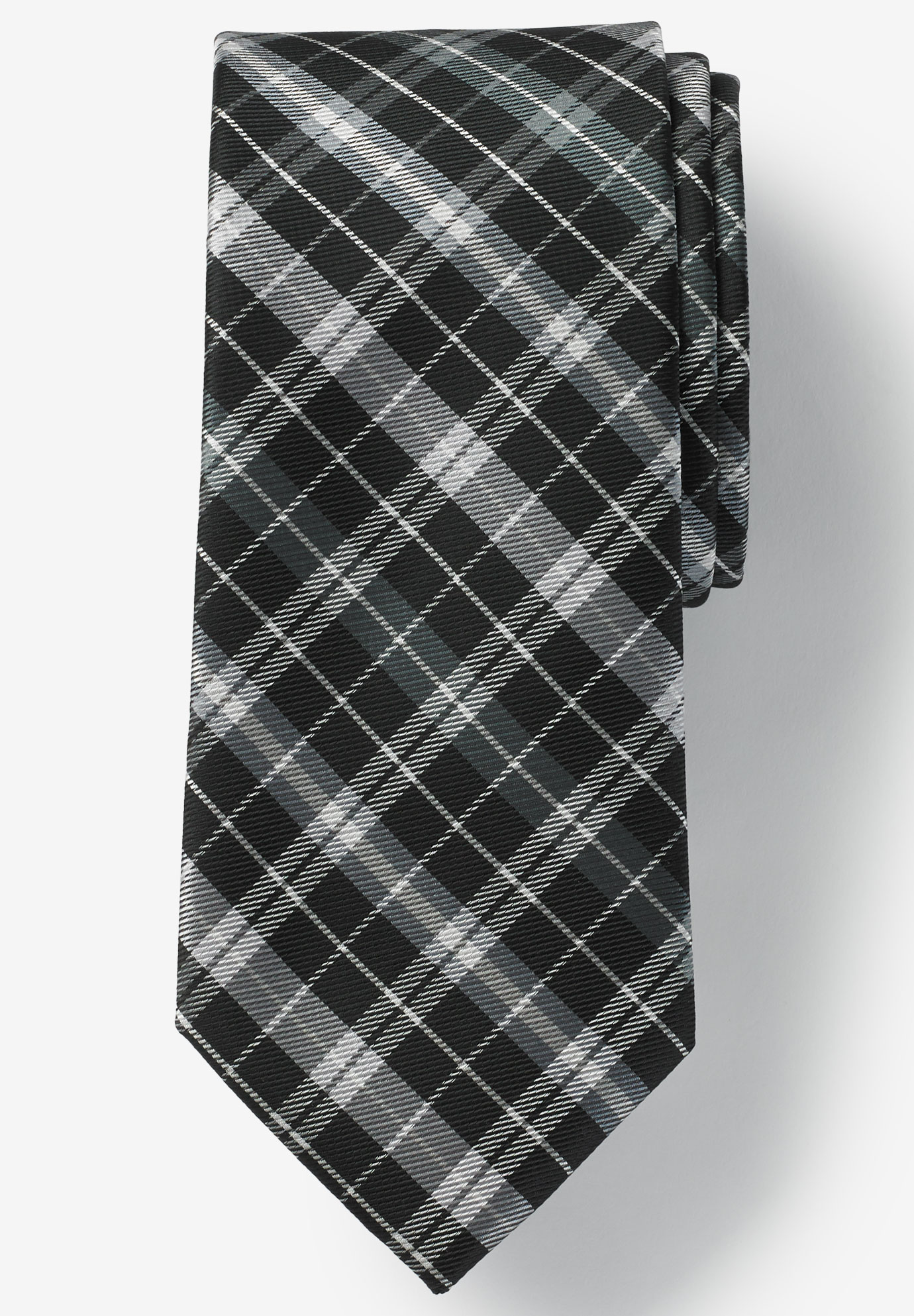 Classic Plaid Tie, STEEL PLAID