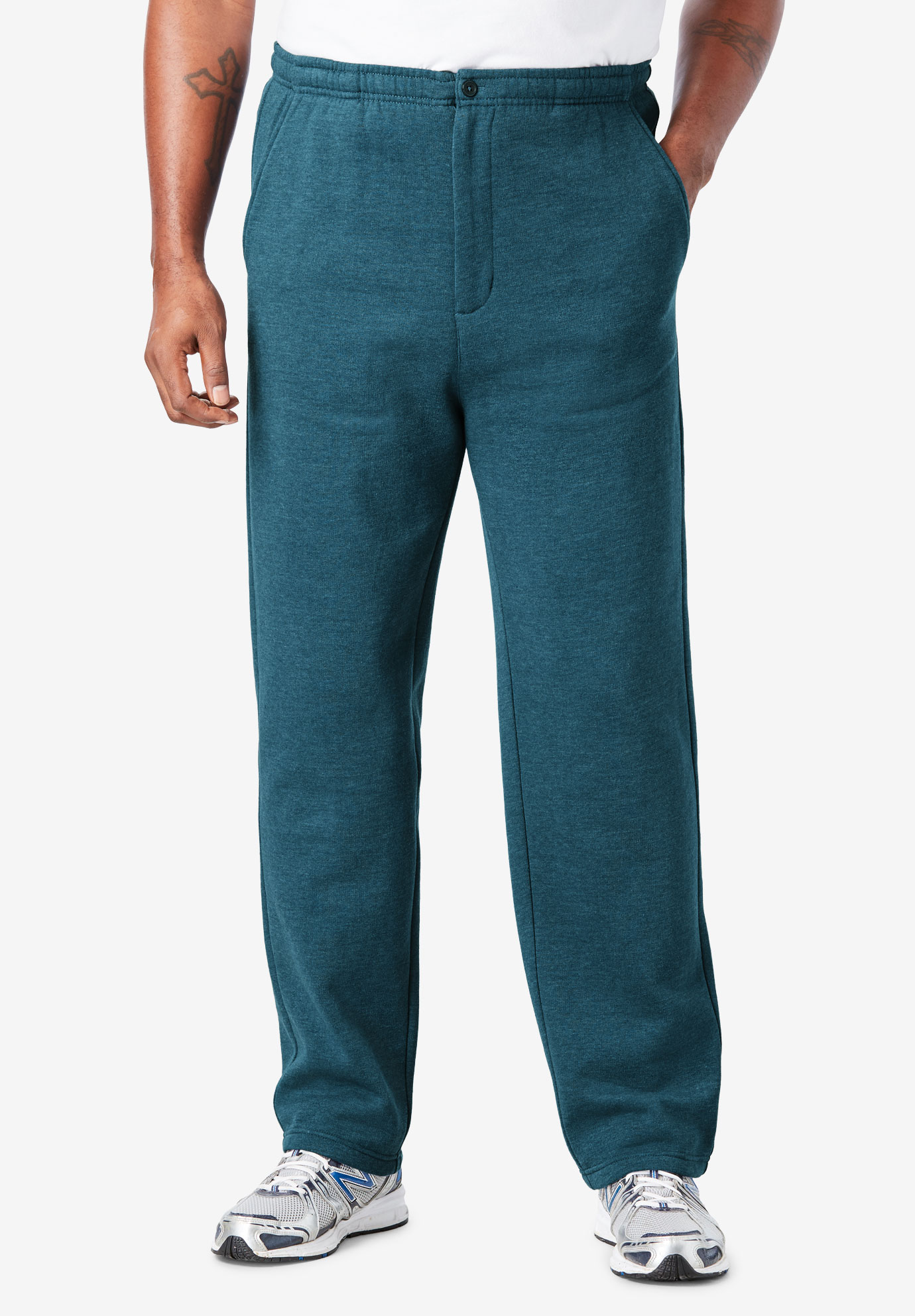 Fleece Zipper Fly Pants,