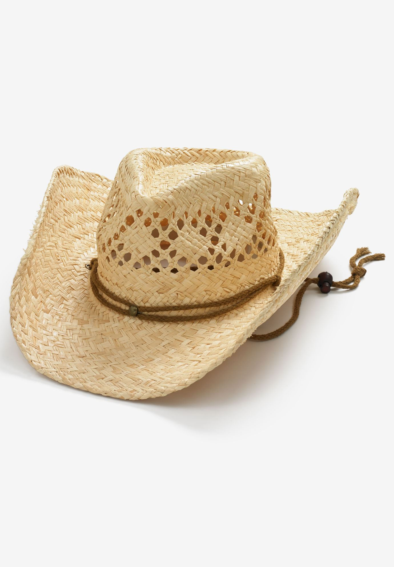 STRAW COWBOY HAT, NATURAL