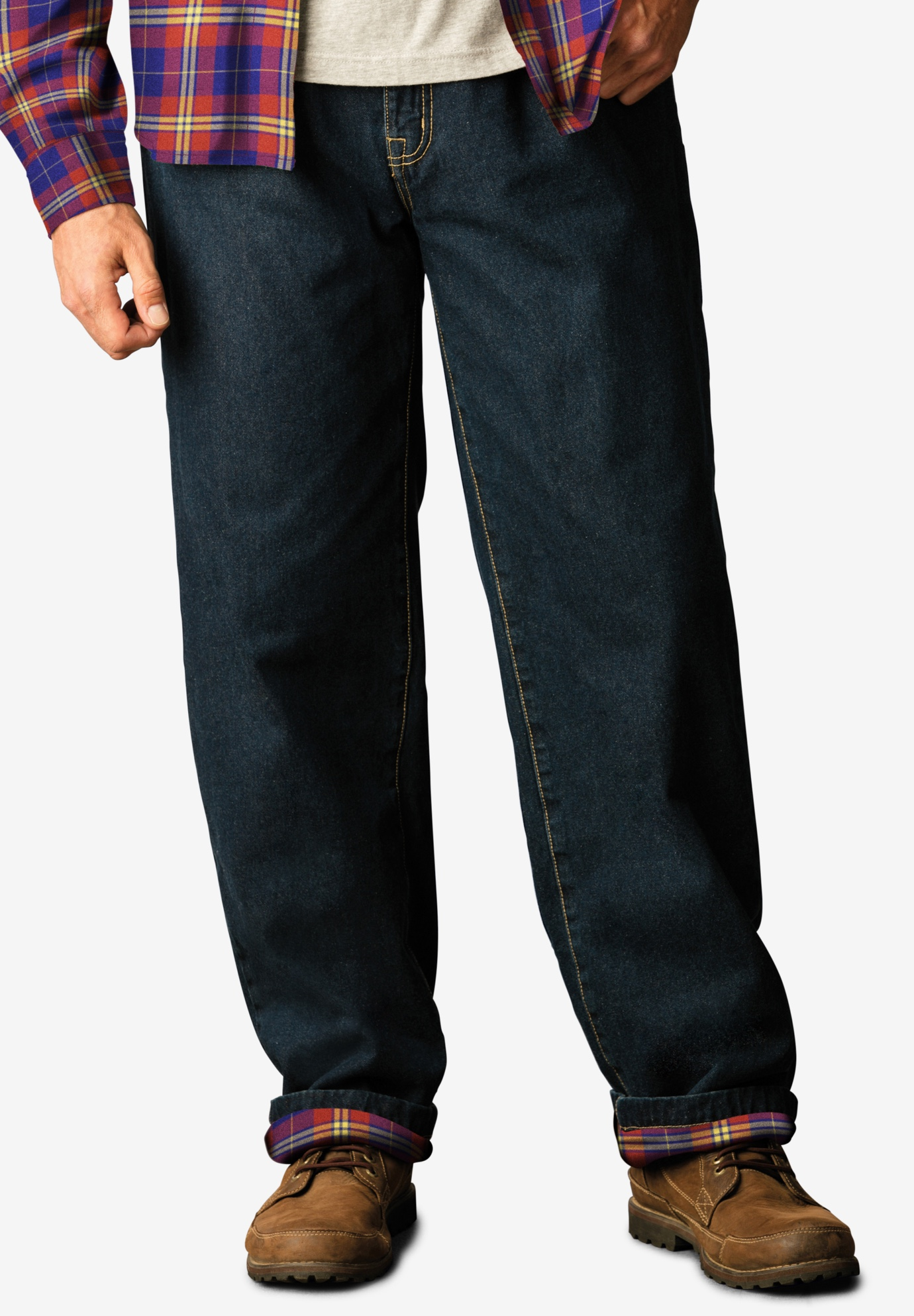 Liberty Blues™ Flannel Lined Side-Elastic Jeans,