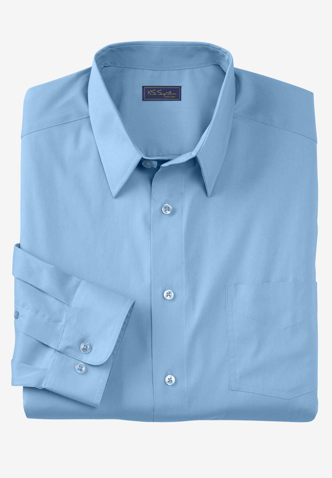 Signature Fit Long-Sleeve Broadcloth Dress Shirt,
