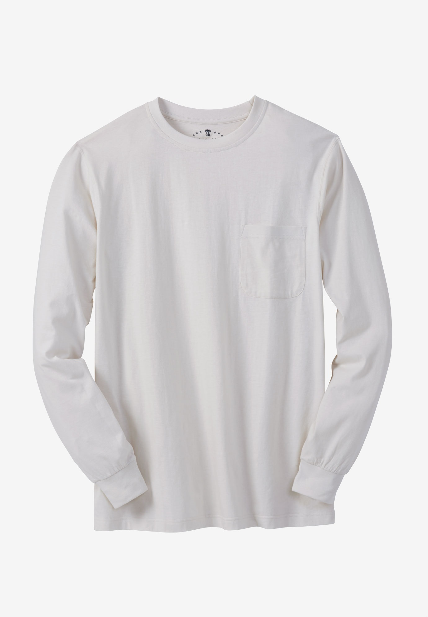 Crewneck Flex Long-Sleeve Tee by Liberty Blues®,