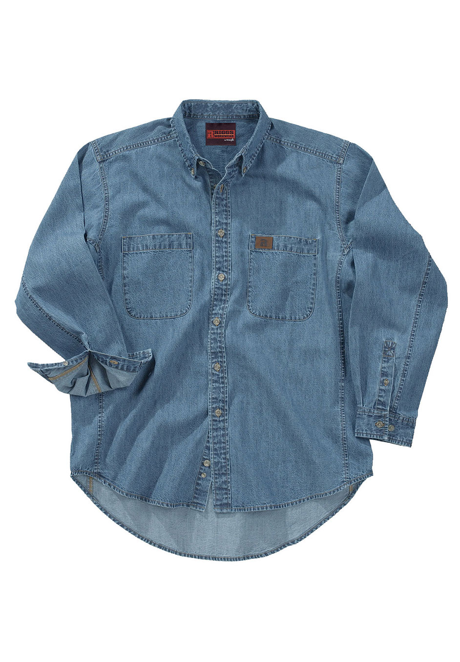 Long-Sleeve Denim Work Shirt by Wrangler®,