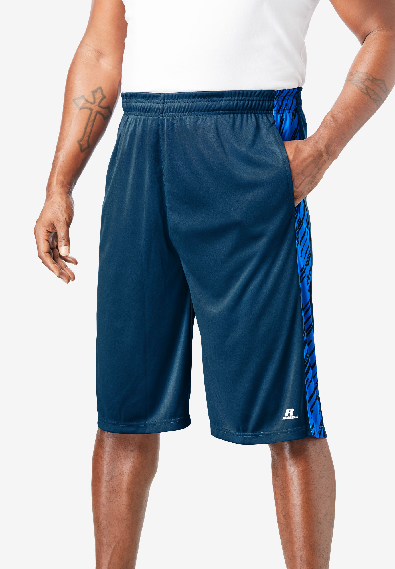 Russell Athletic® Dri-Power® Side Stripe Performance Shorts,
