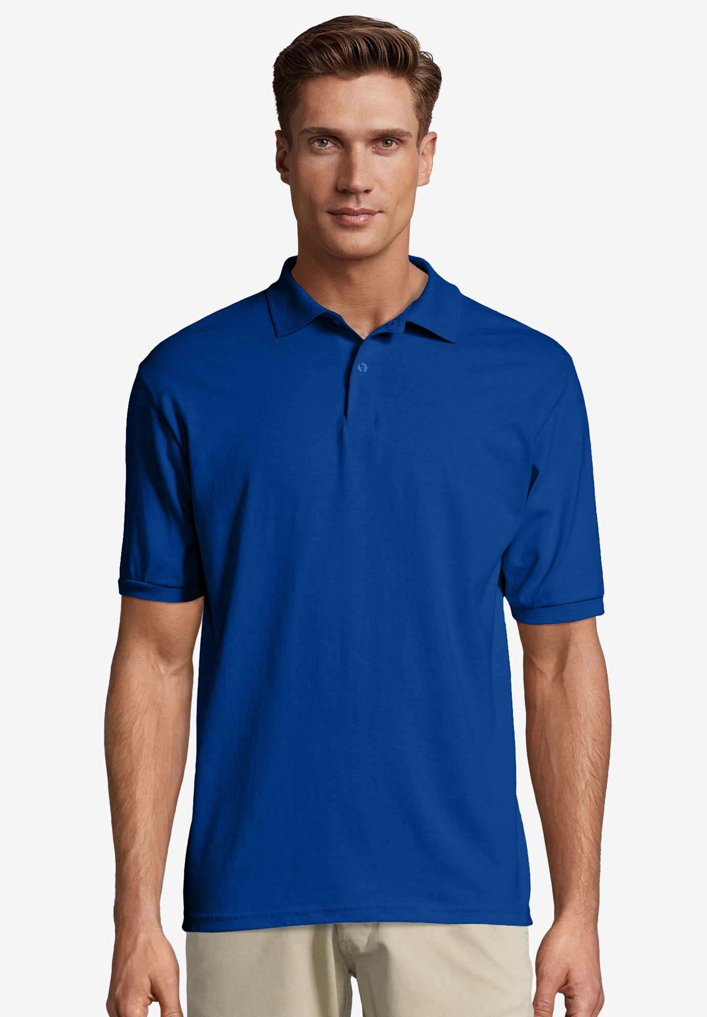 f14e50626c0 Hanes® ComfortBlend® EcoSmart® Jersey Polo Shirt| Big and Tall ...